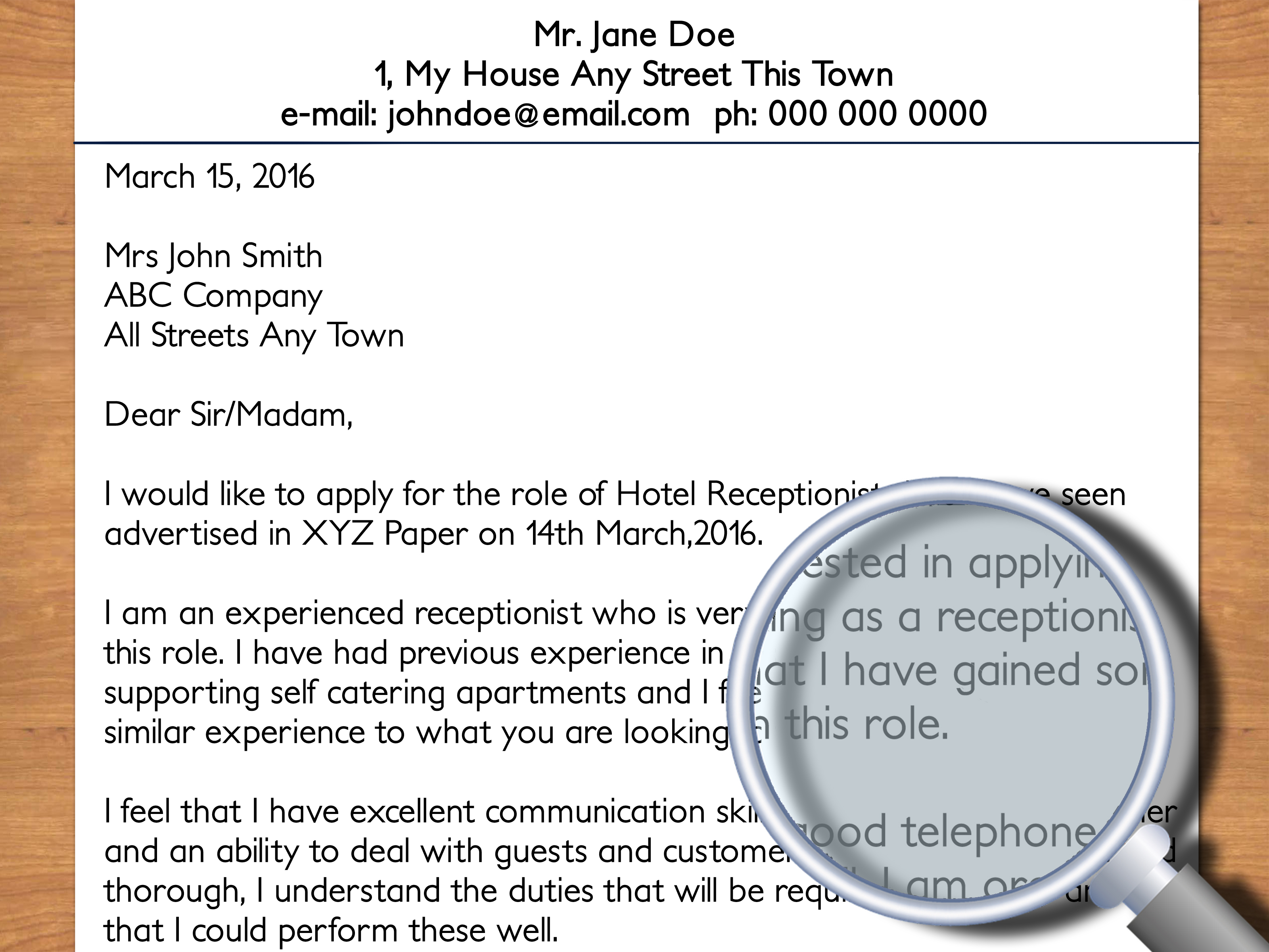 Hospitality Job Recruitment How To Write A Cover Letter To A Hotel With Pictures Wikihow