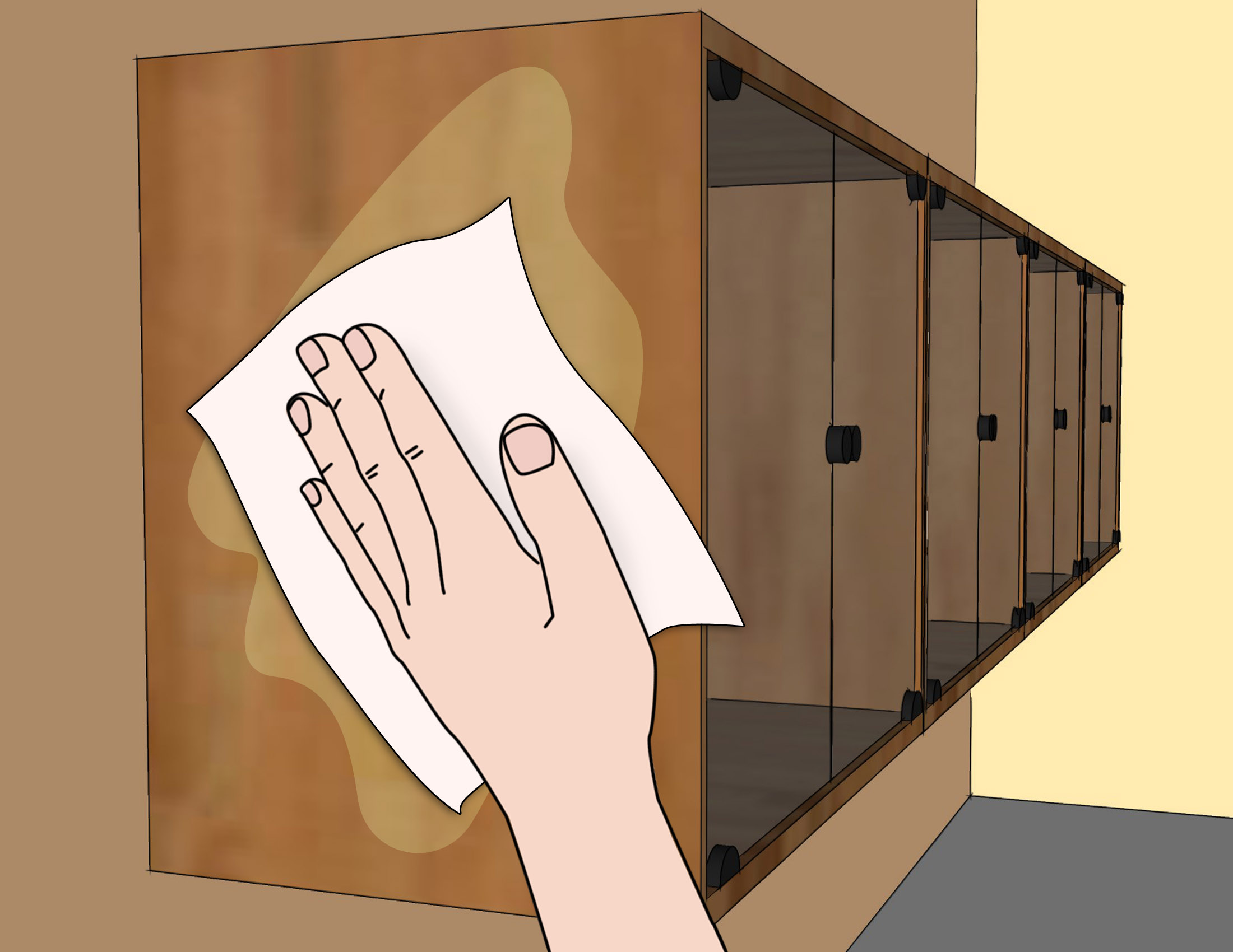 Cleaning Kitchen Cabinets Wood 3 Ways To Clean Wood Kitchen Cabinets Wikihow