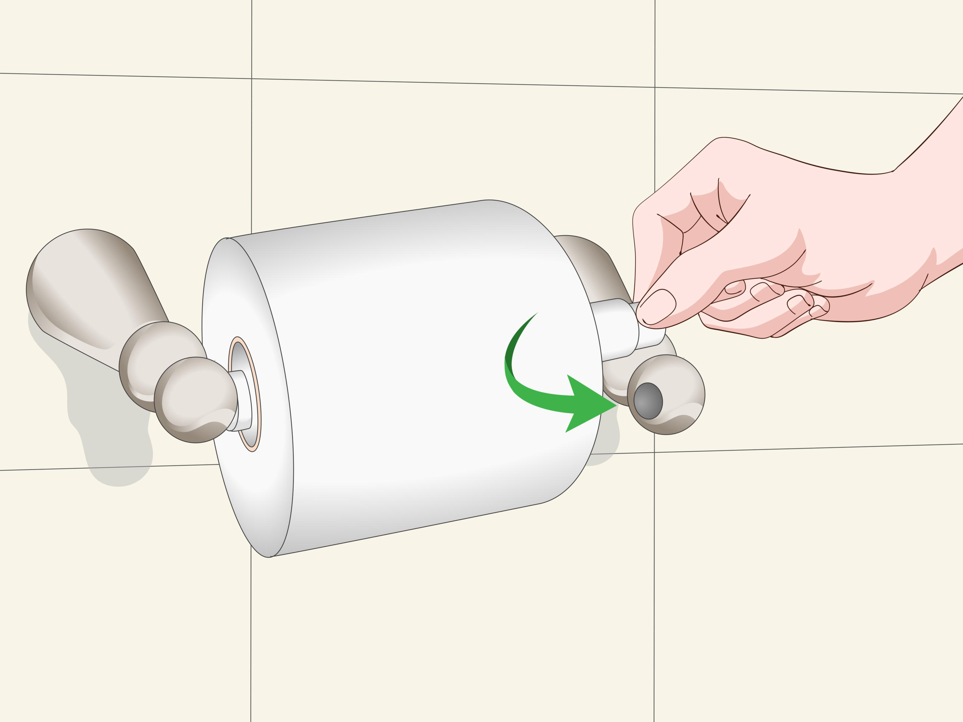 Install A Toilet How To Install A Toilet Paper Holder 10 Steps With Pictures