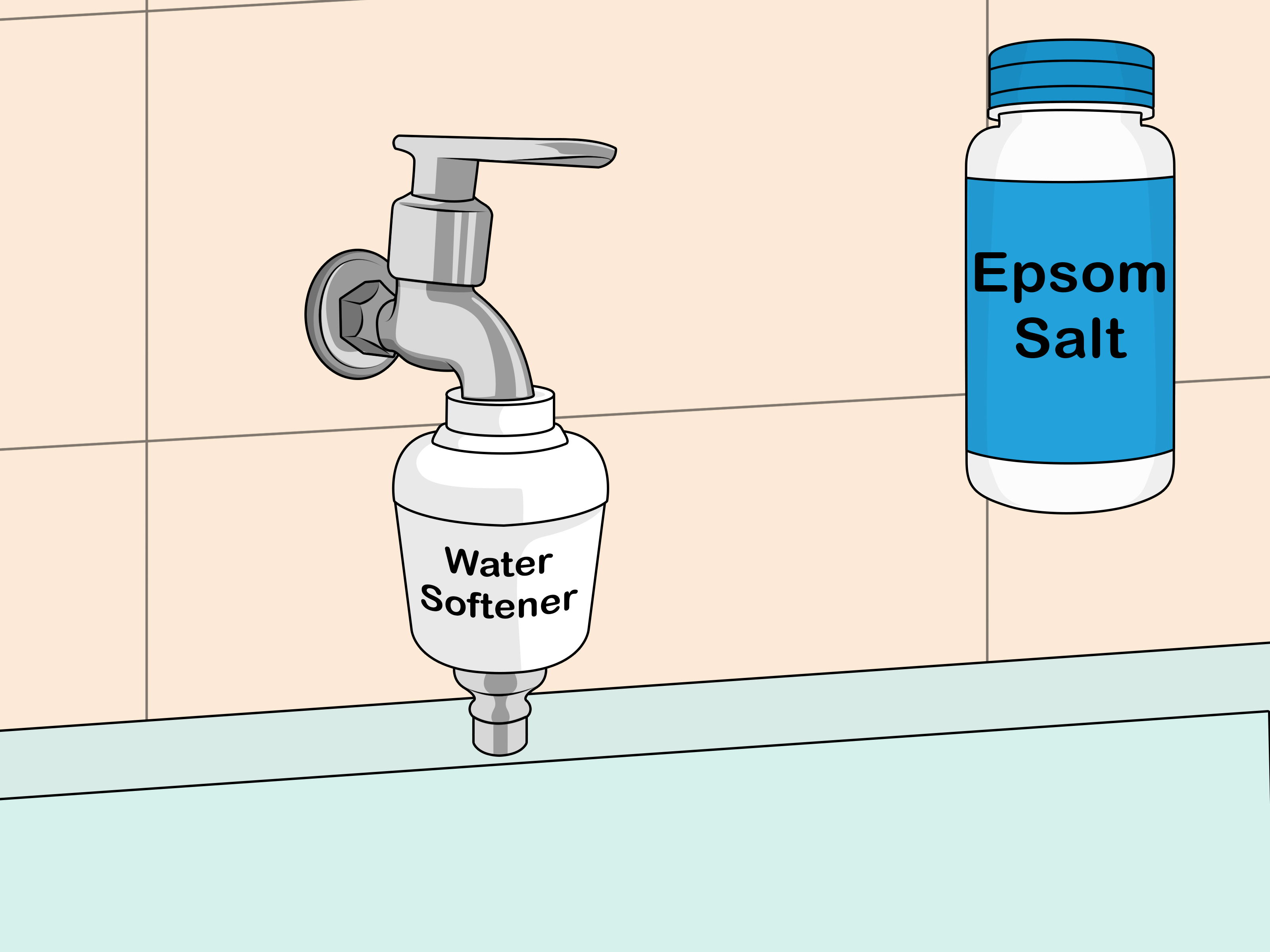 Best Way To Clean Countertops 3 Ways To Clean Fiberglass Bathroom Surfaces Wikihow