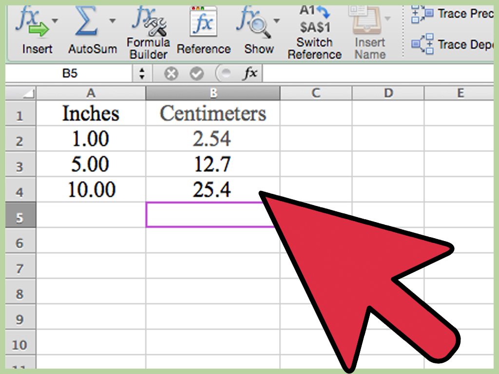 10 In Cm 3 Ways To Convert Measurements Easily In Microsoft Excel Wikihow
