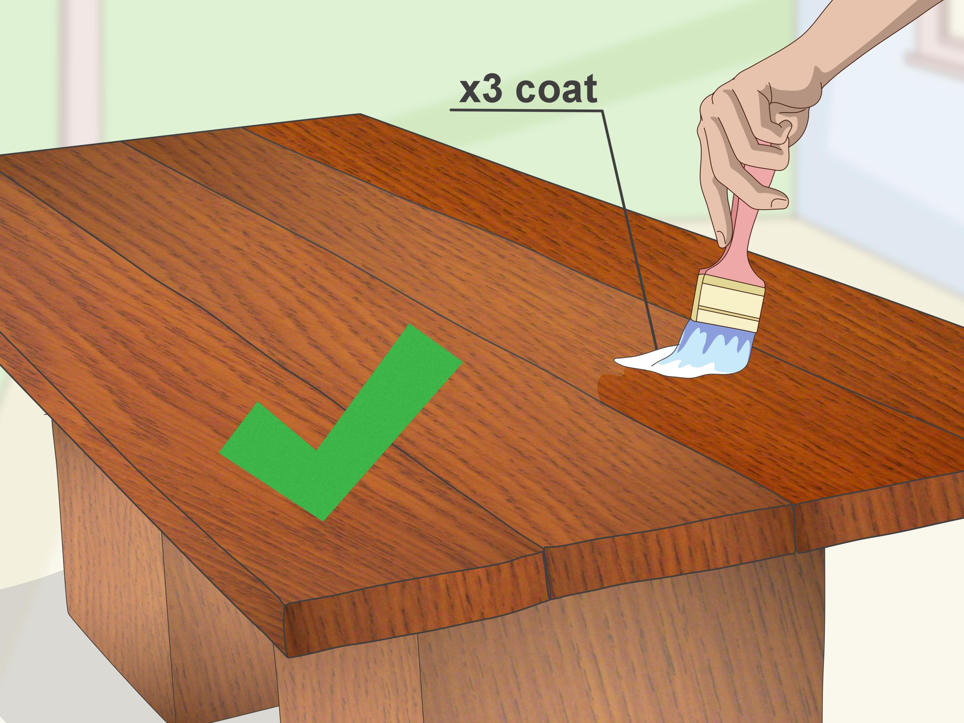 How To Waterproof Wood Countertop 3 Ways To Waterproof Wood Wikihow