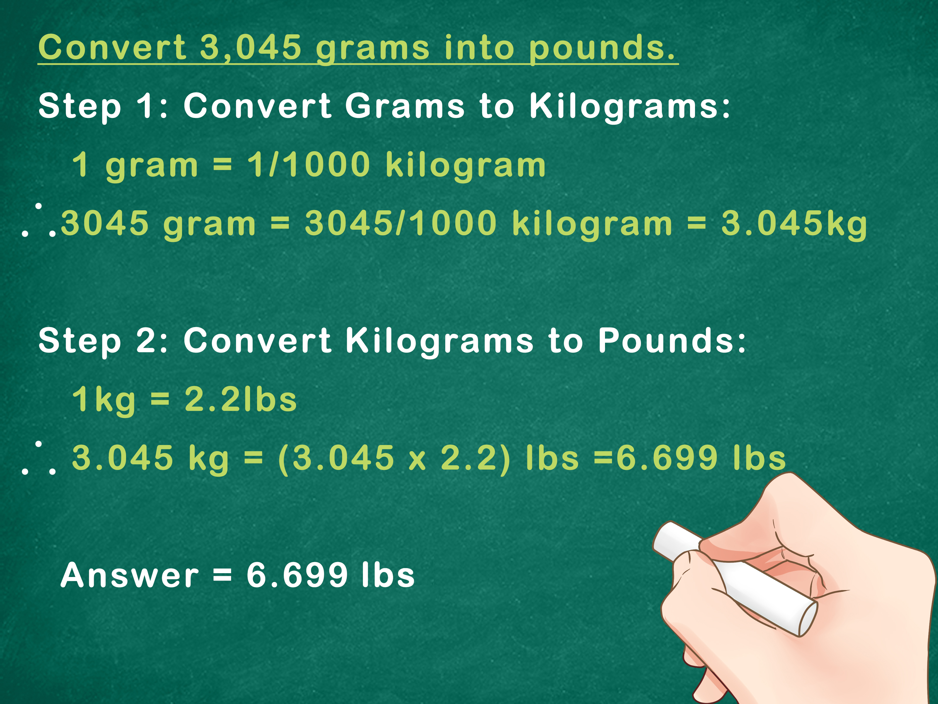 Pounds In Kg How To Convert Metric Weight To Pounds 7 Steps With Pictures