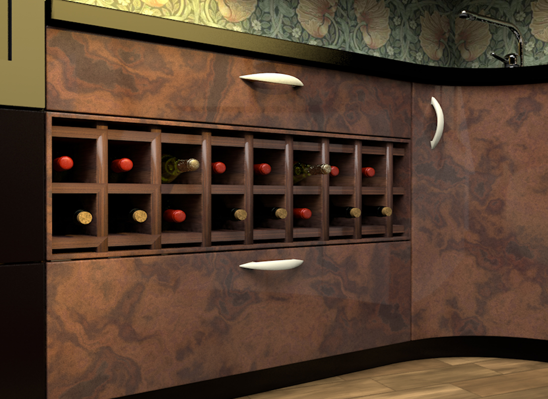 Kitchen Wine Rack How To Incorporate A Wine Rack Under A Kitchen Counter 9