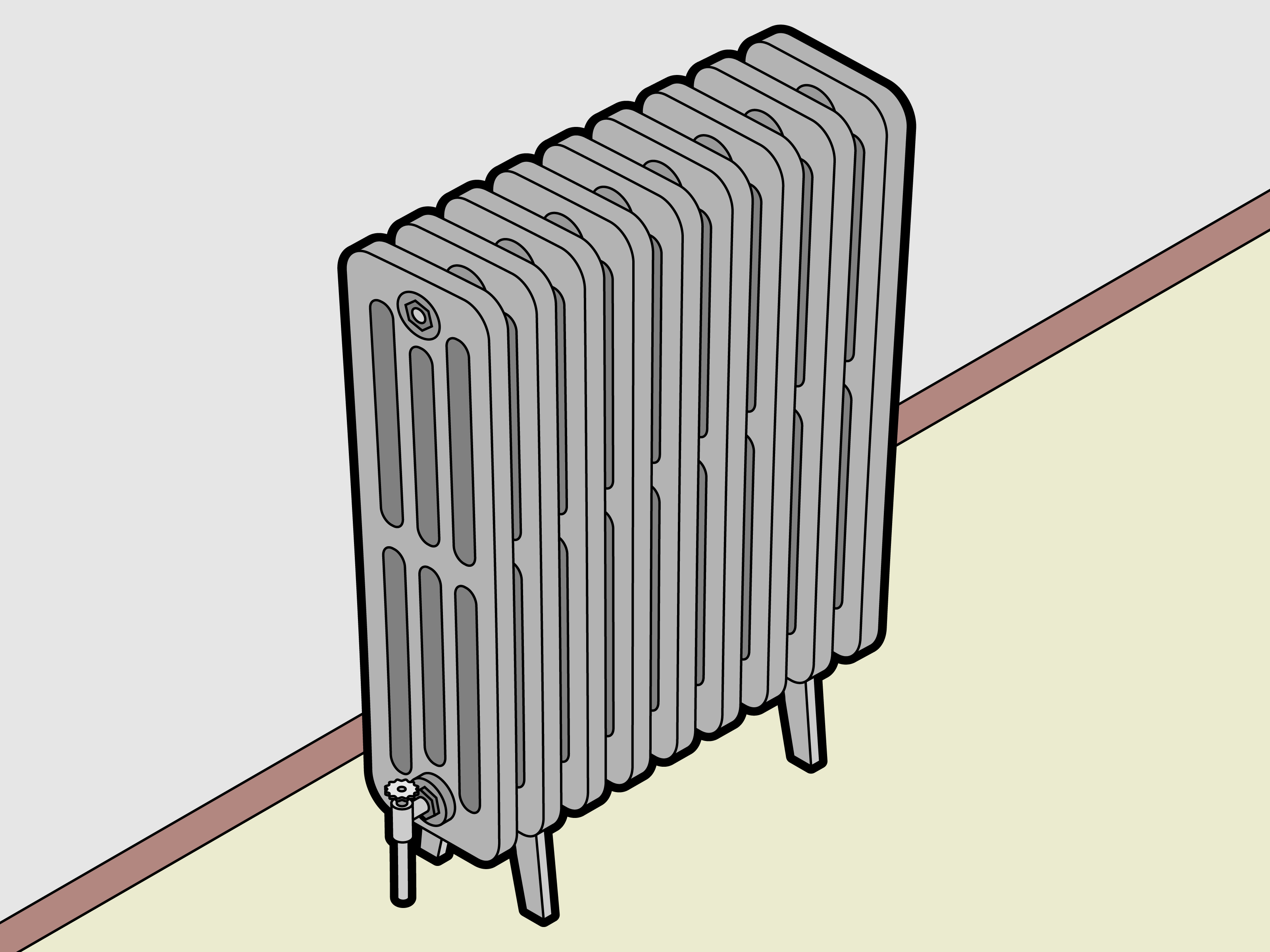 Wattage Radiator How To Size A Radiator 15 Steps With Pictures Wikihow