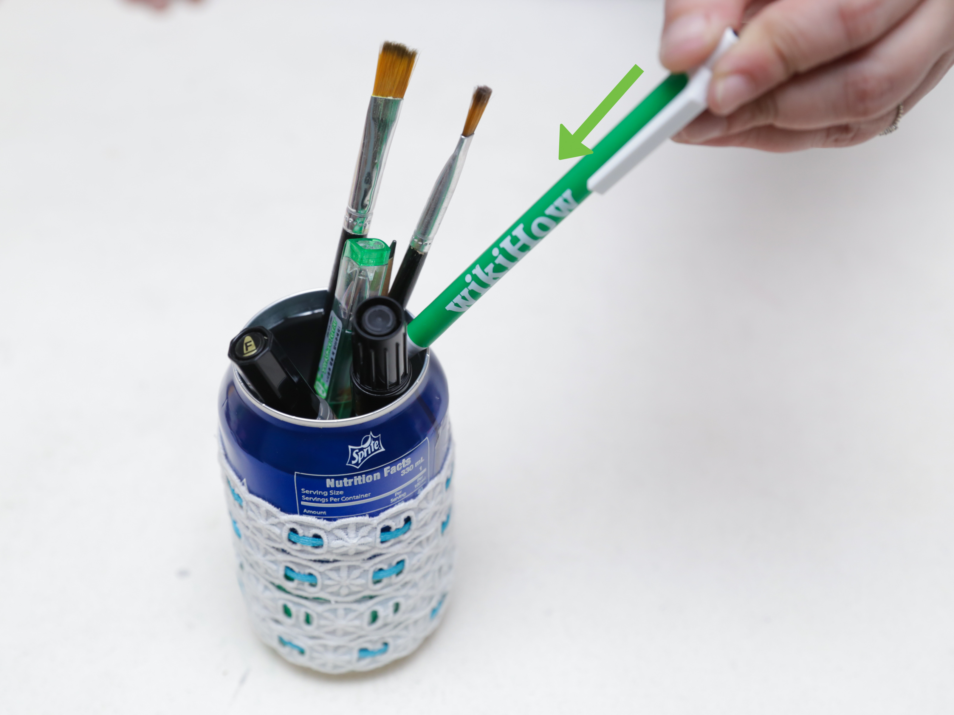 Homemade Pencil Holders 3 Ways To Make A Pencil Holder From A Can Wikihow
