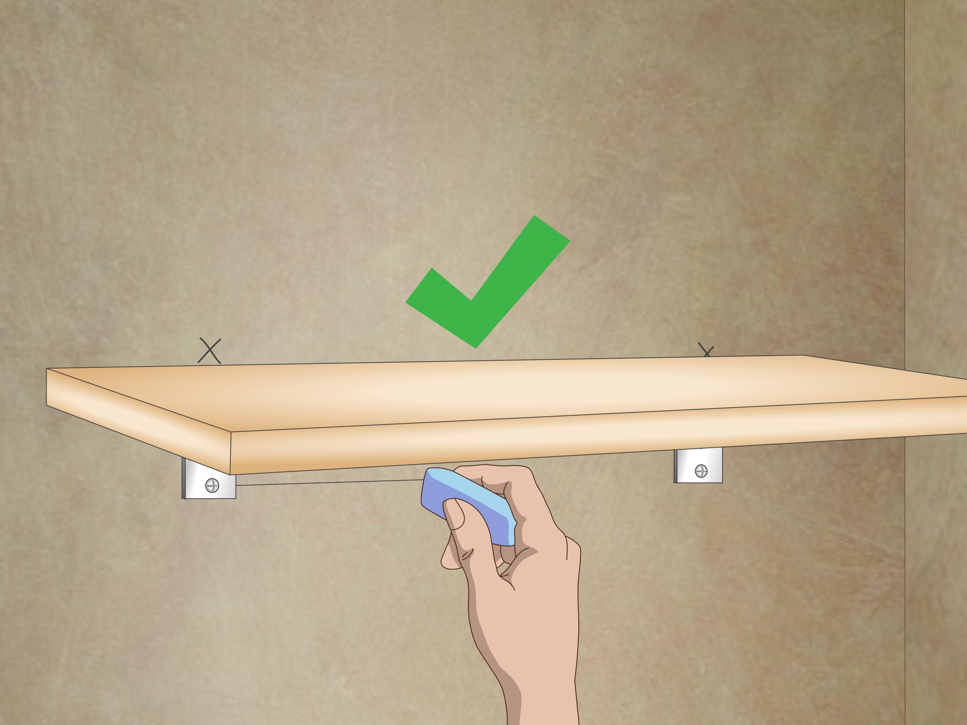 Mensole Wooden Art How To Put Up Shelves 12 Steps With Pictures Wikihow