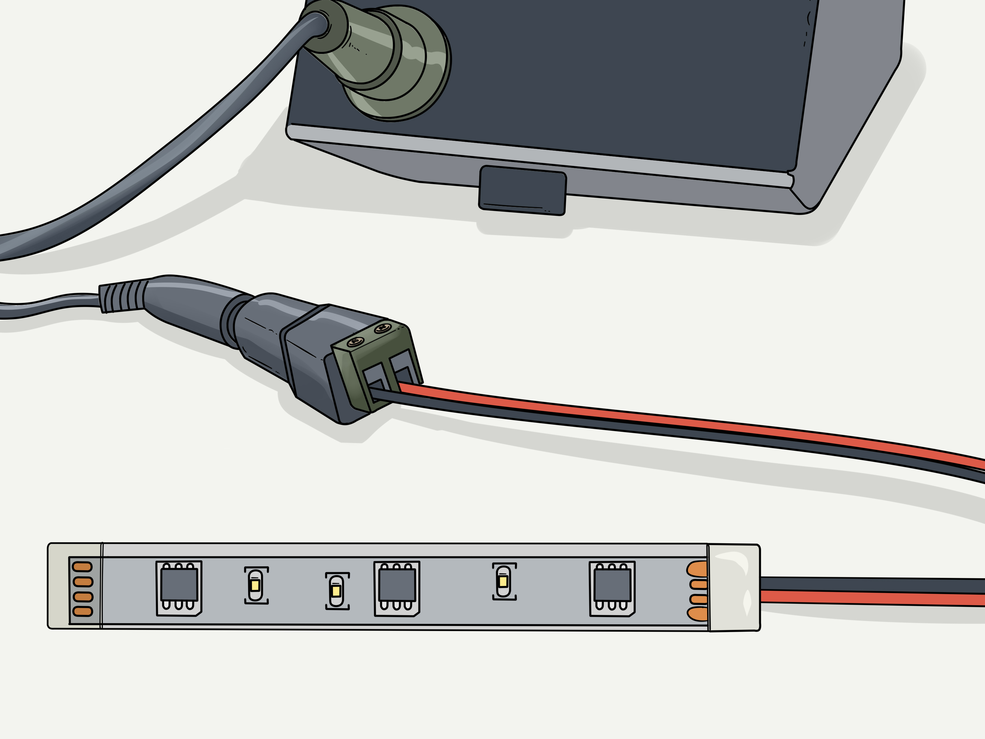 How To Cut Led Strip Lights With Pictures Wikihow
