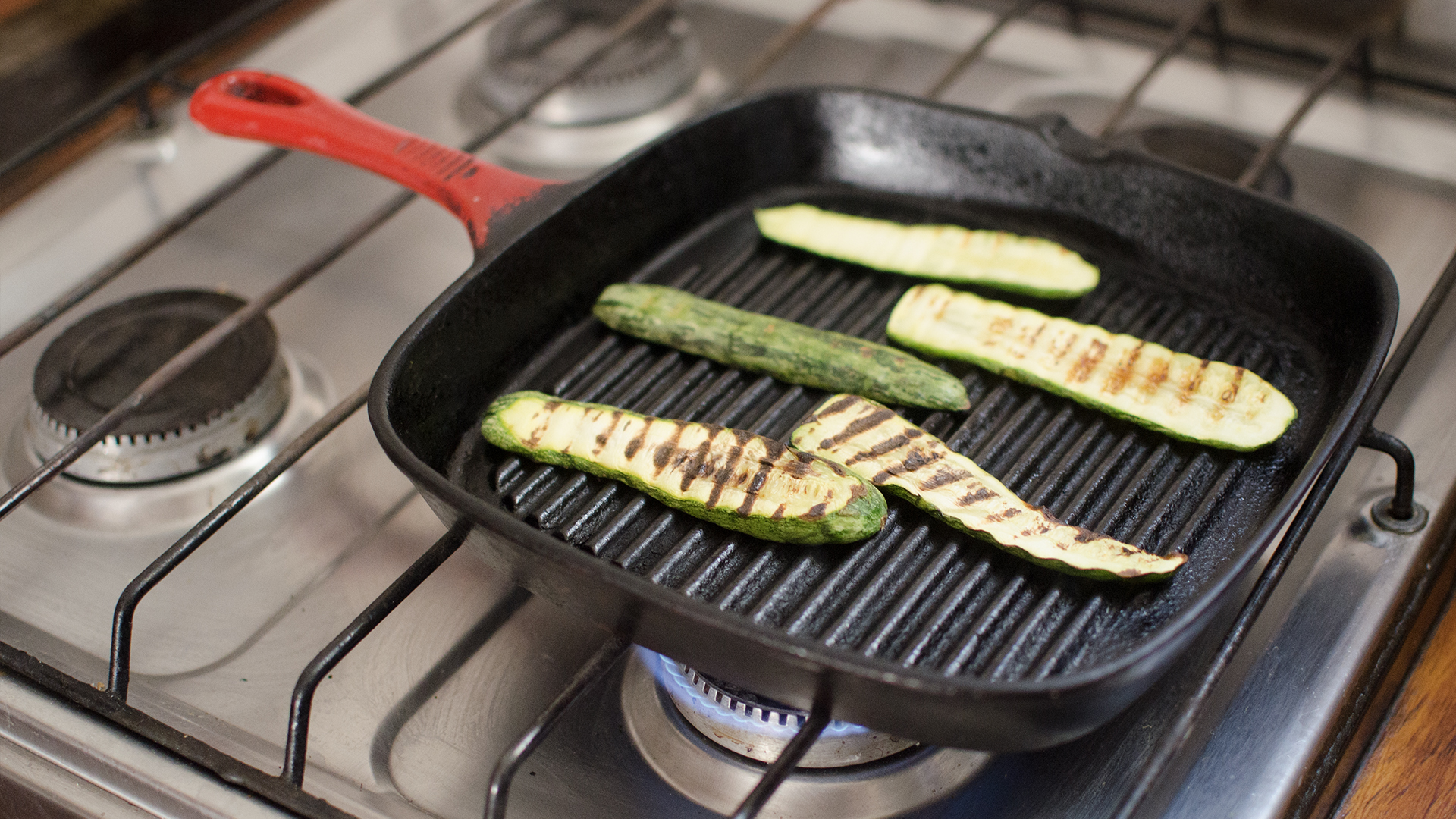 Grill Frying Pan How To Use A Grill Pan With Pictures Wikihow
