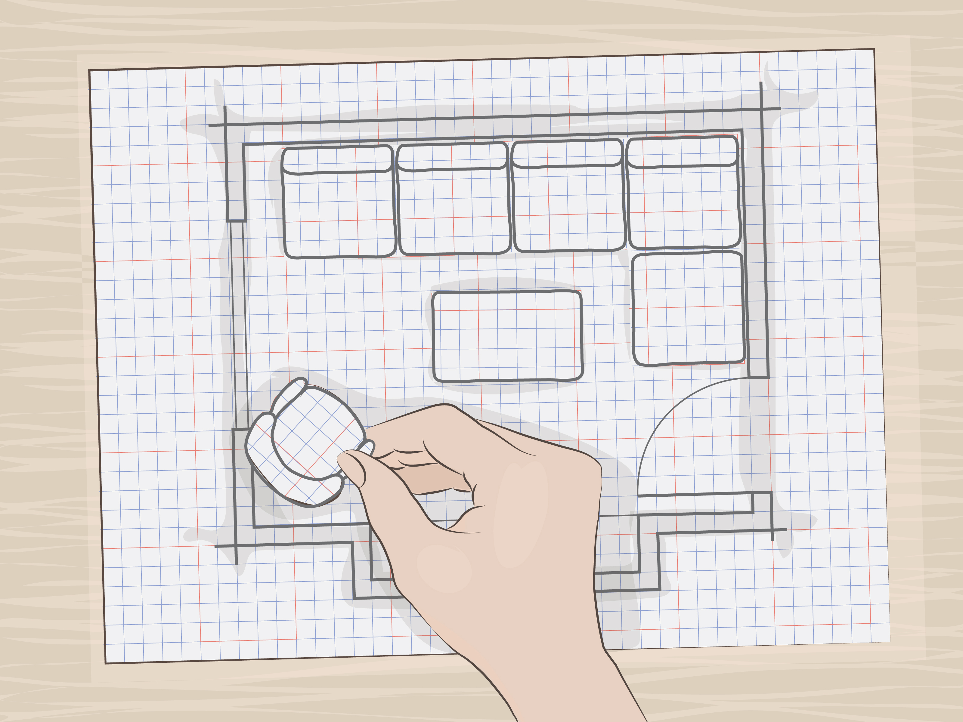 Kitchen Design Layout Graph Paper How To Draw A Floor Plan To Scale 13 Steps With Pictures