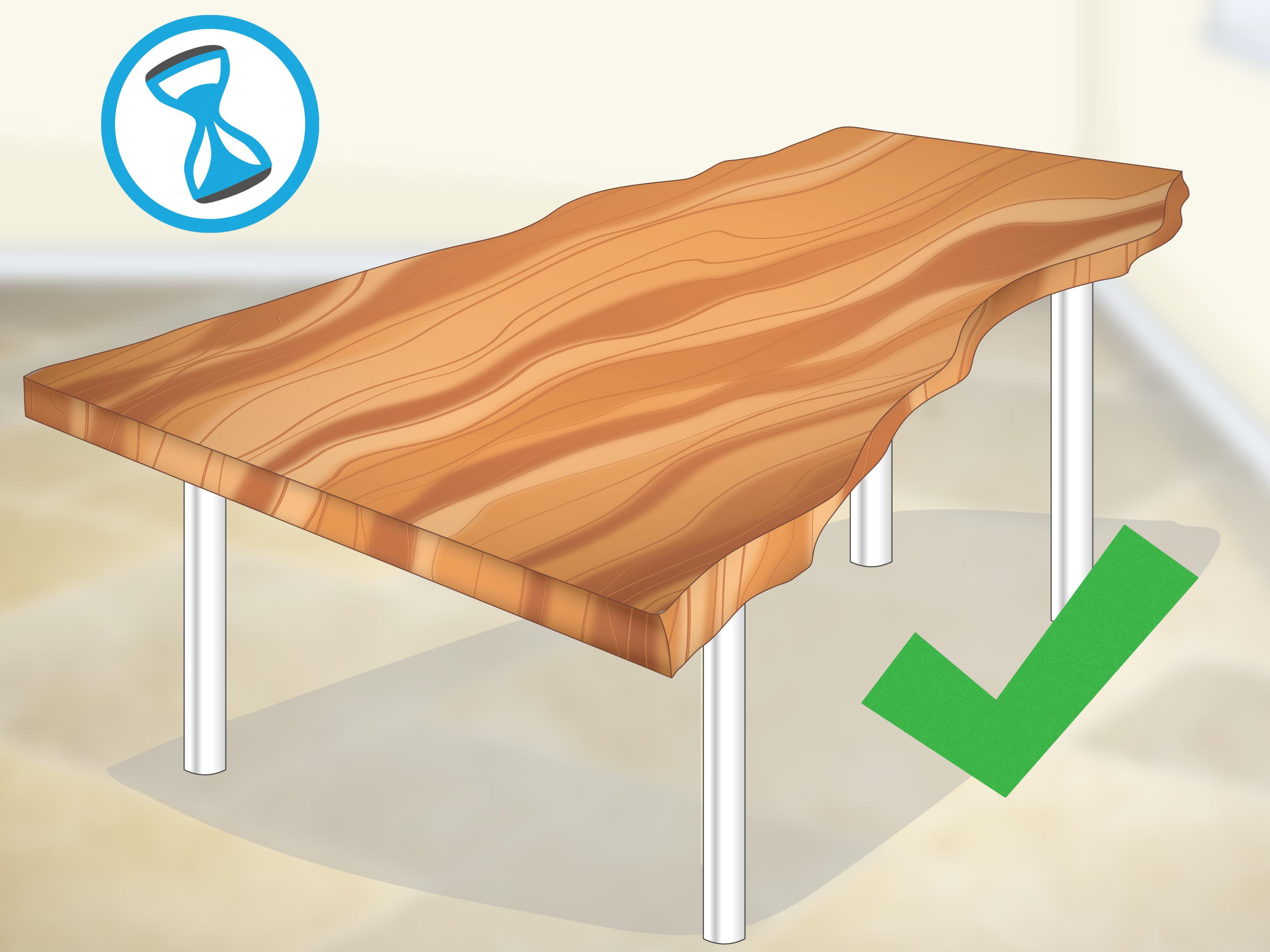 How To Waterproof Wood Countertop How To Finish Live Edge Slabs With Pictures Wikihow