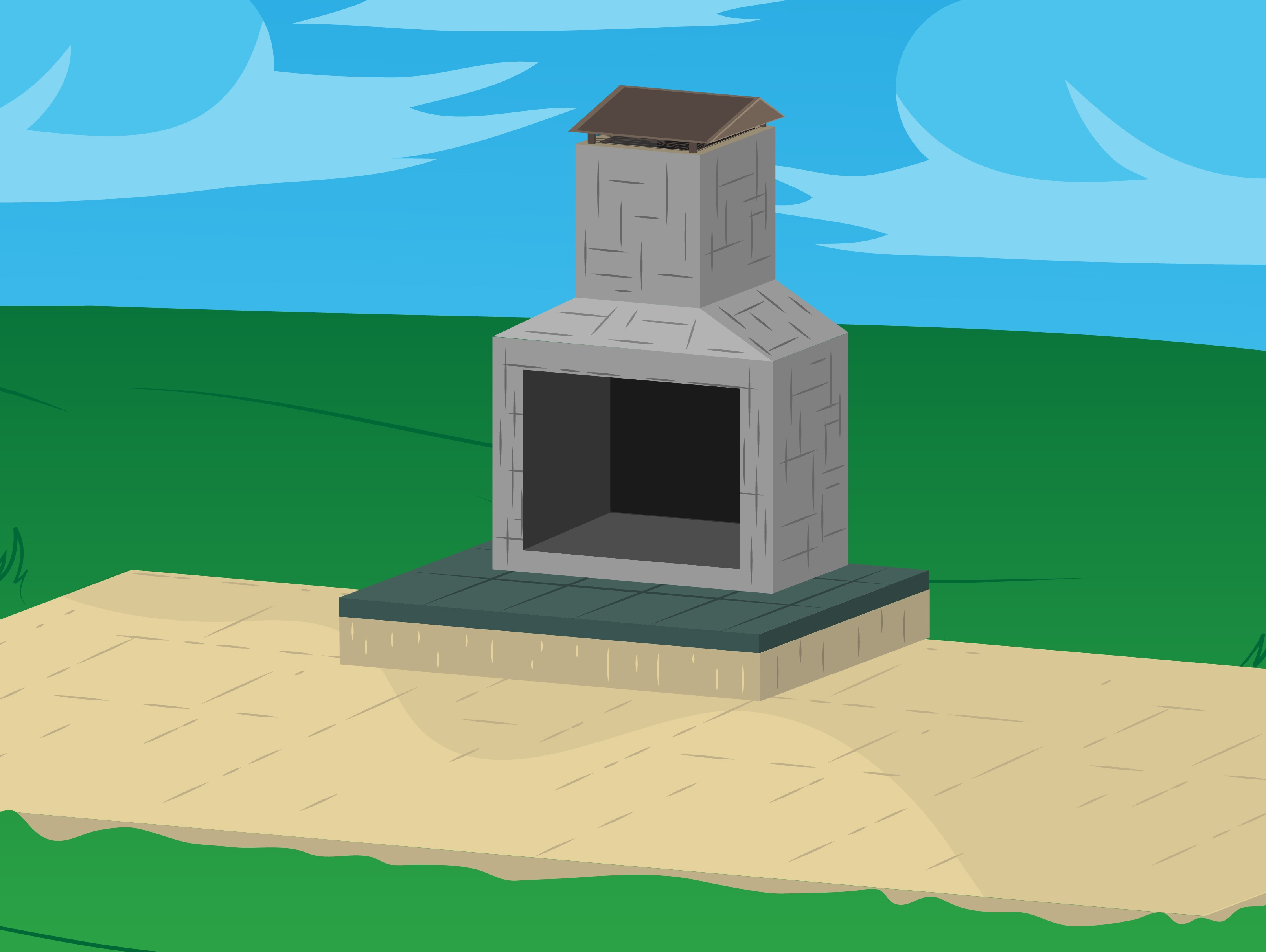 Make Your Own Outdoor Fireplace How To Build Outdoor Fireplaces With Pictures Wikihow