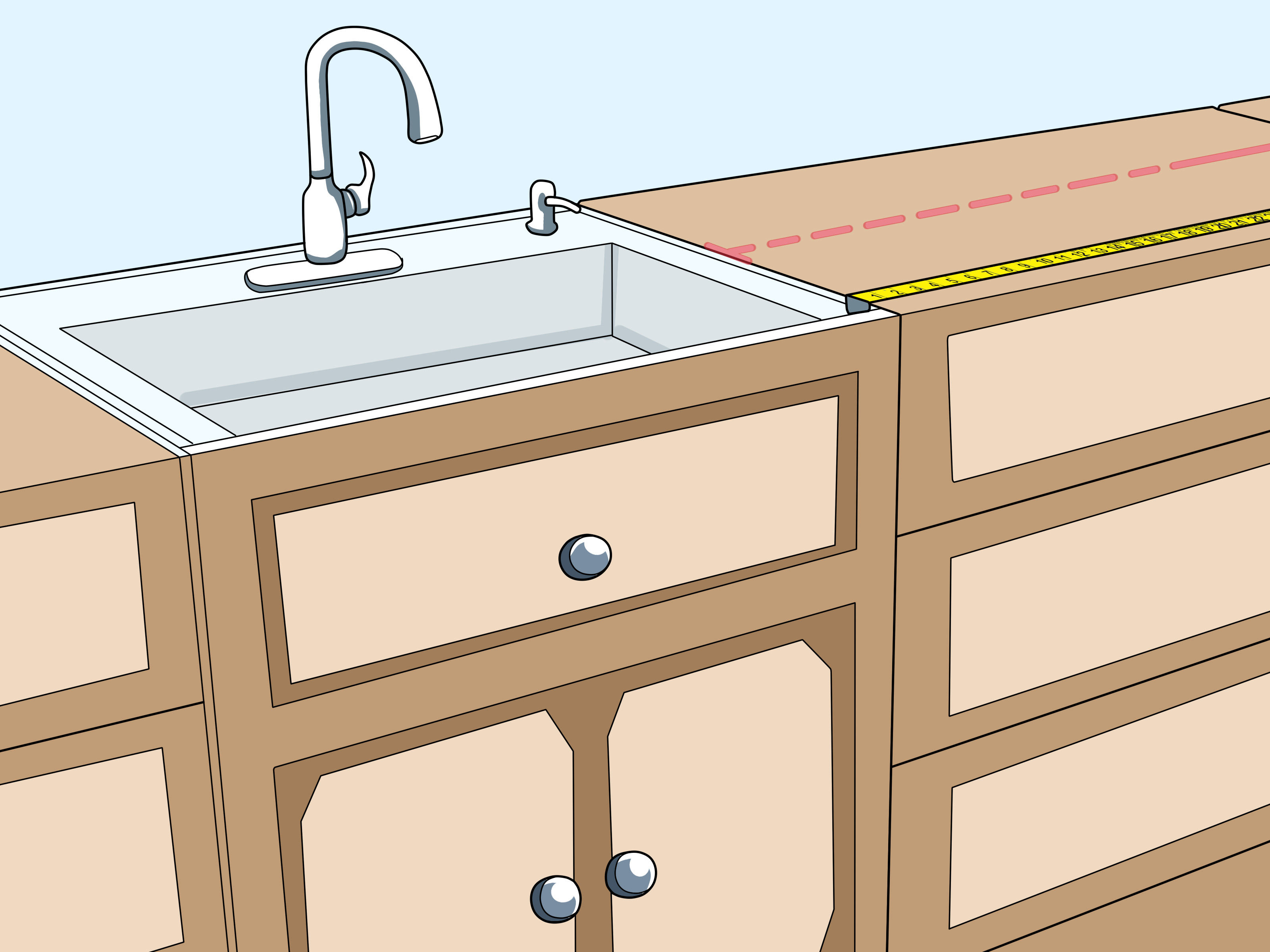 Measuring Kitchen Cabinets How To Measure Kitchen Cabinets 11 Steps With Pictures
