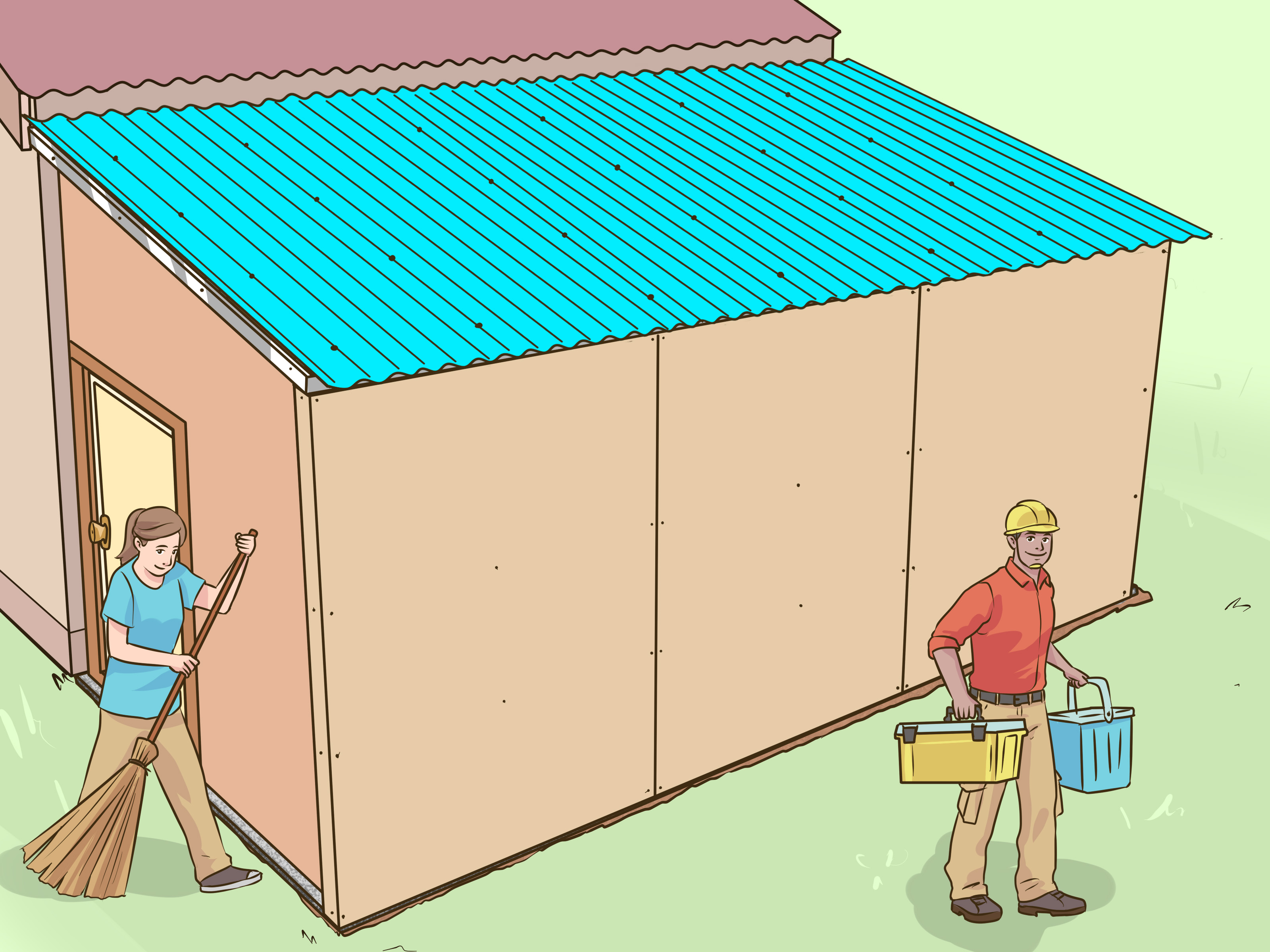Garage Awning Extension 6 Ways To Add A Lean To Onto A Shed Wikihow
