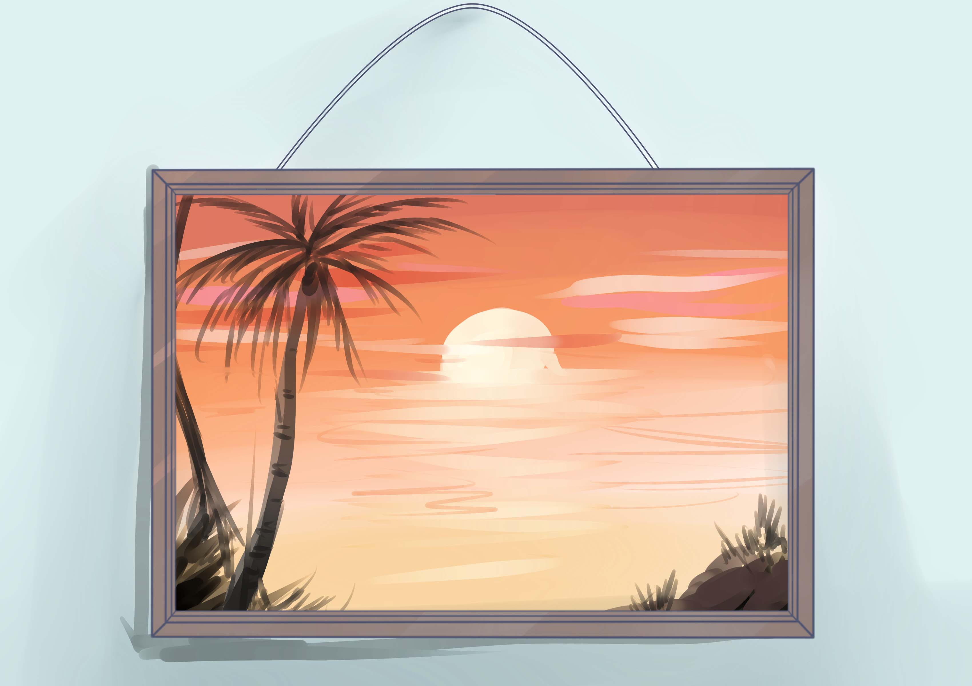 Painting Frames How To Frame An Oil Painting With Pictures Wikihow