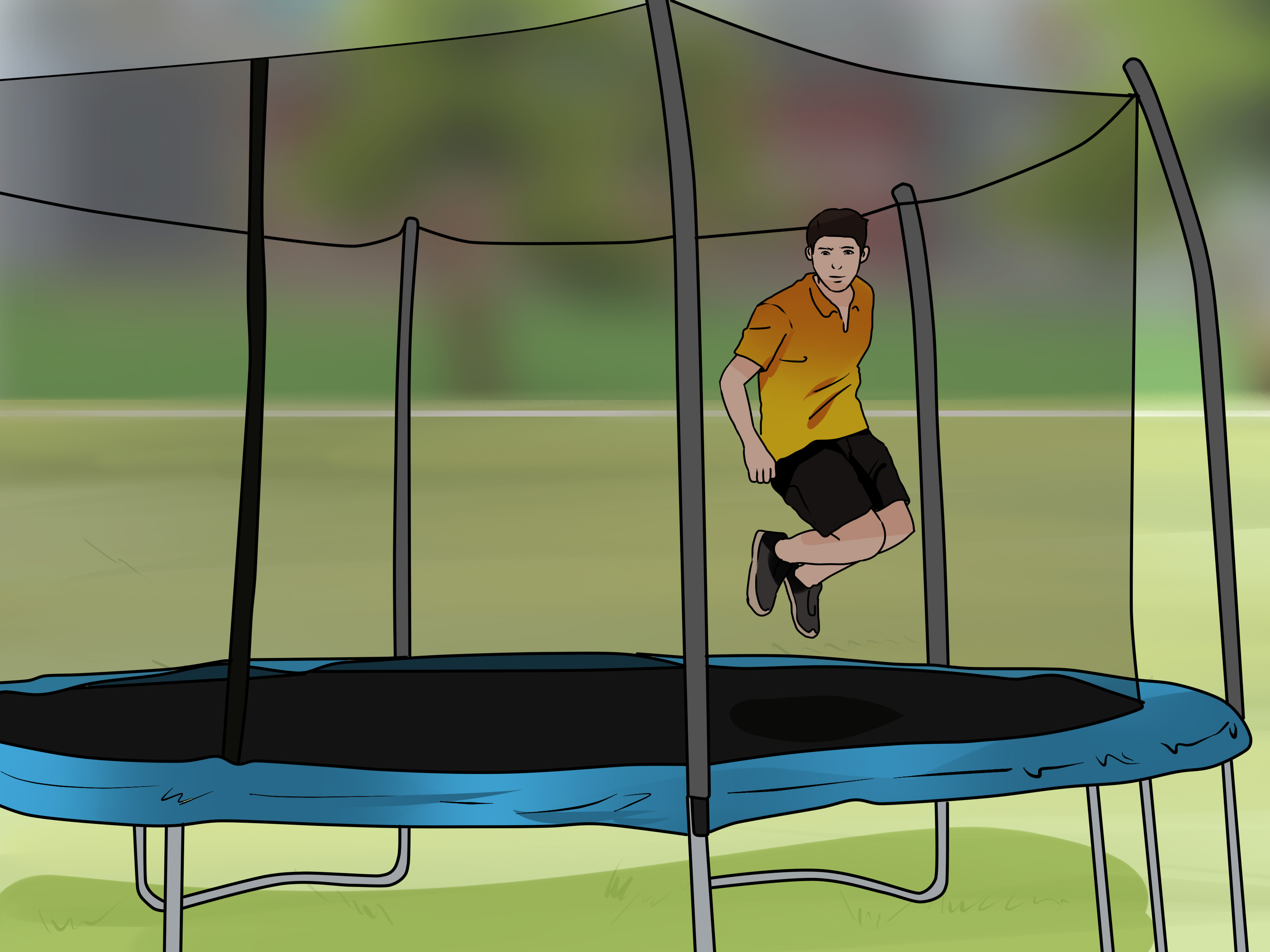 Trampolin 3 5 Meter How To Set Up A Trampoline 14 Steps With Pictures Wikihow