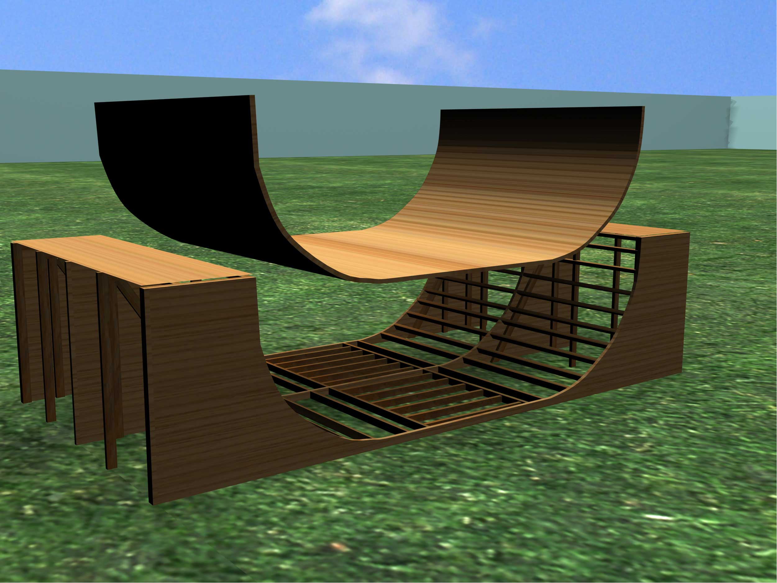 Half Inch Plywood How To Build A Halfpipe Or Ramp 7 Steps With Pictures Wikihow
