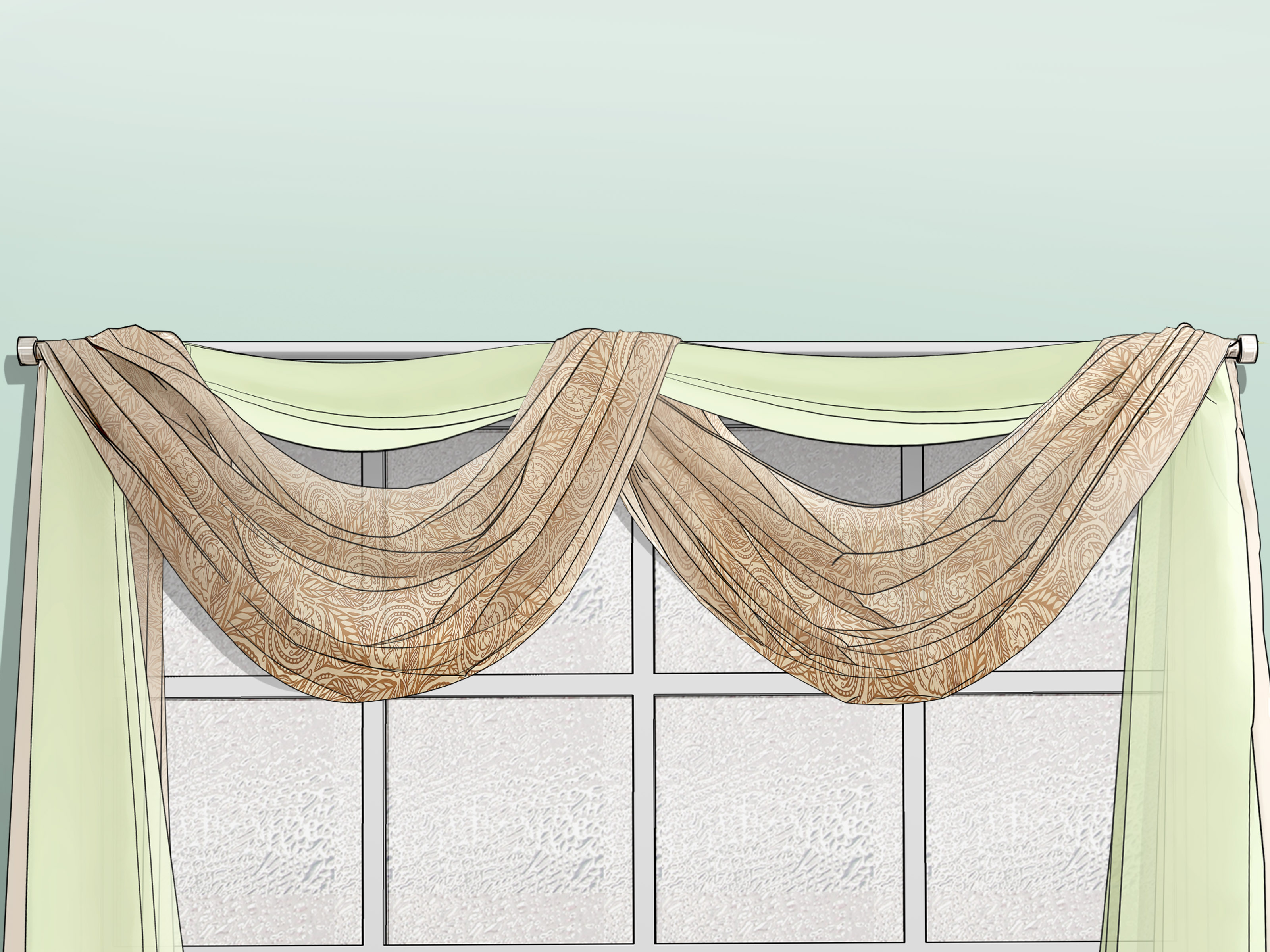 Draping Curtains 3 Ways To Drape Window Scarves Wikihow