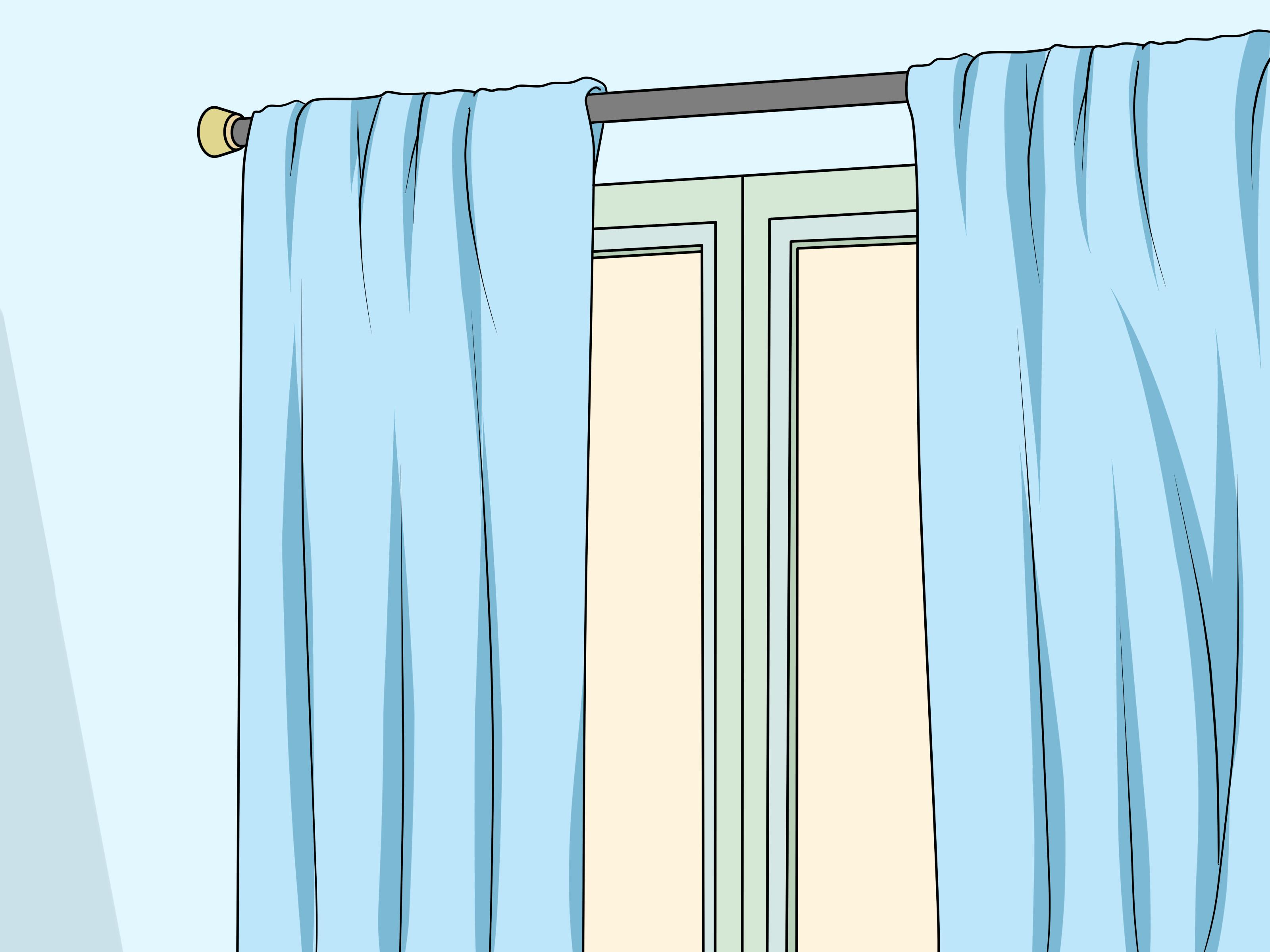 Make Curtains How To Make Sheer Curtains With Pictures Wikihow