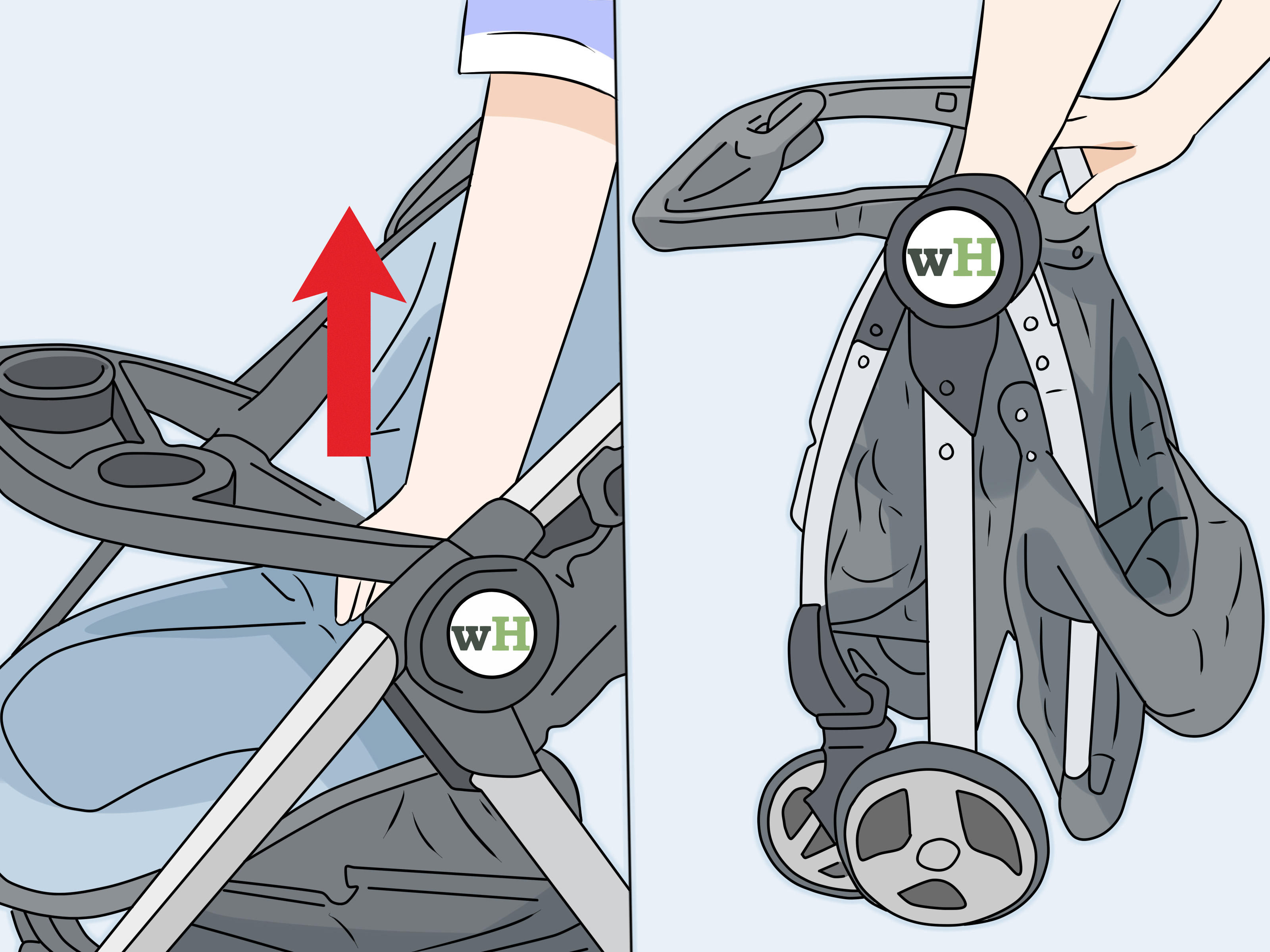 Graco Infant Car Seat Stroller Instructions How To Fold A Graco Stroller 11 Steps With Pictures Wikihow
