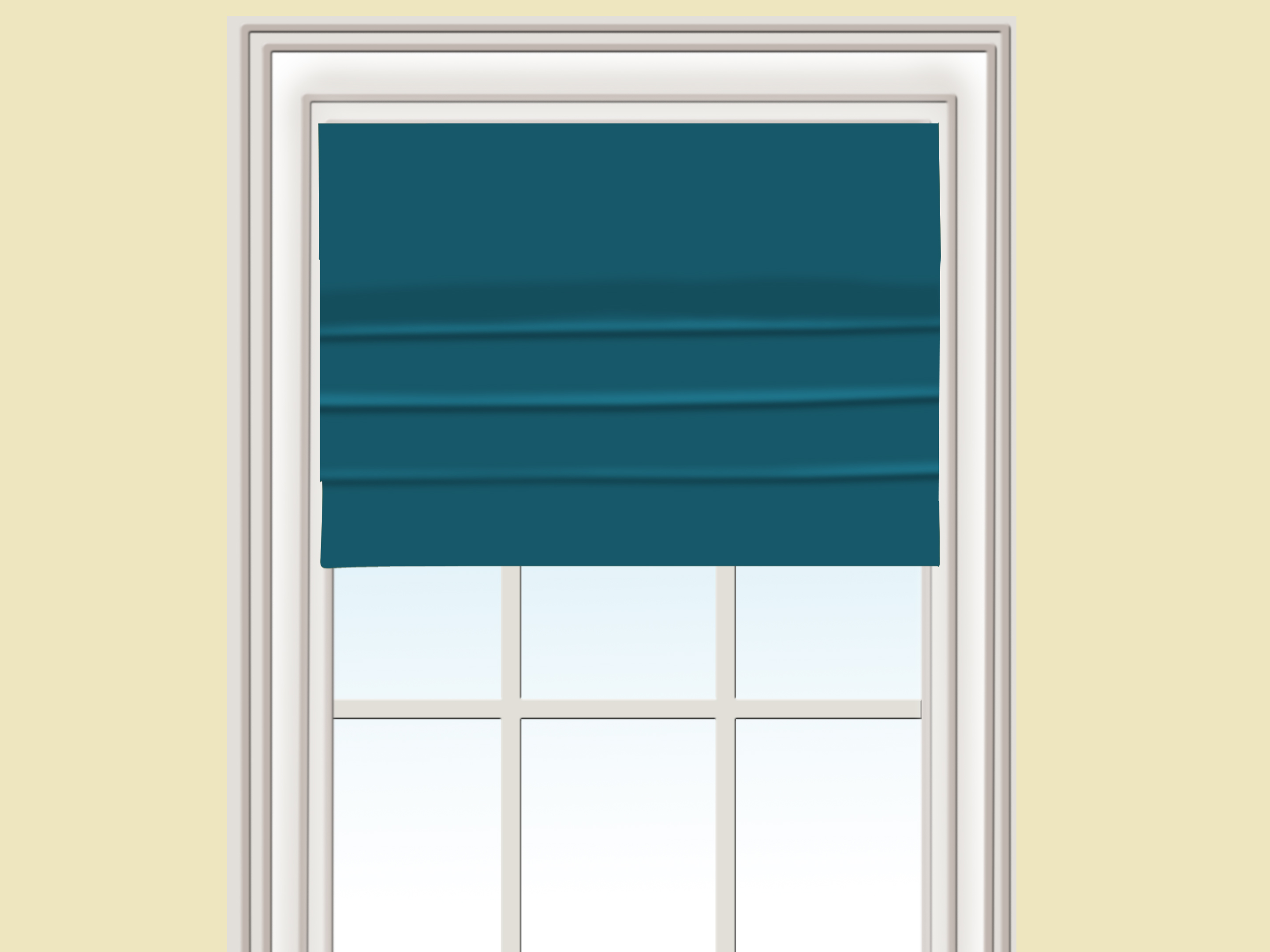 Diy Roman Shades Easy 3 Ways To Make A Roman Shade Wikihow