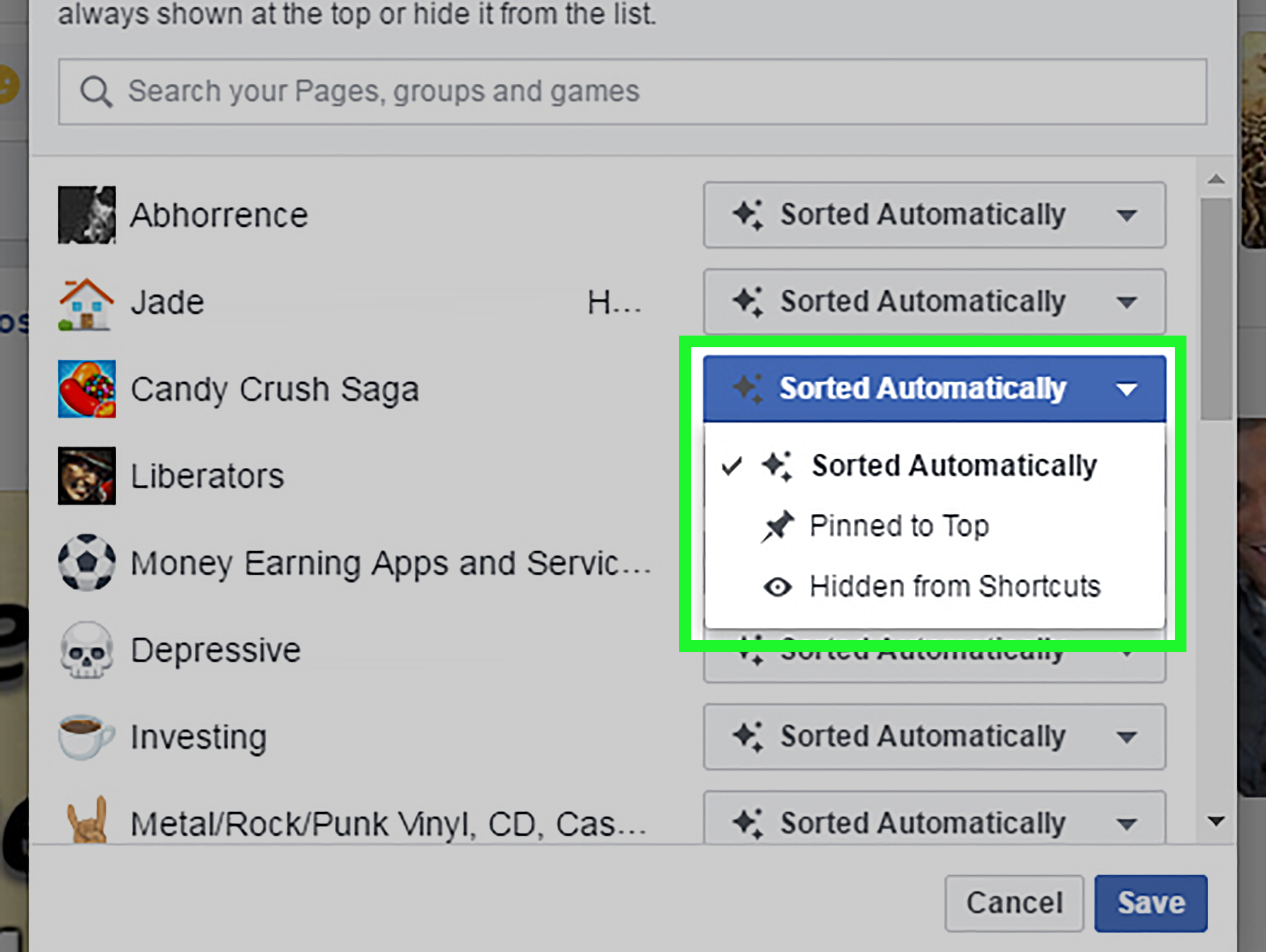 Fa Ceb Oo K How To Edit Your Facebook Shortcuts 5 Steps With Pictures