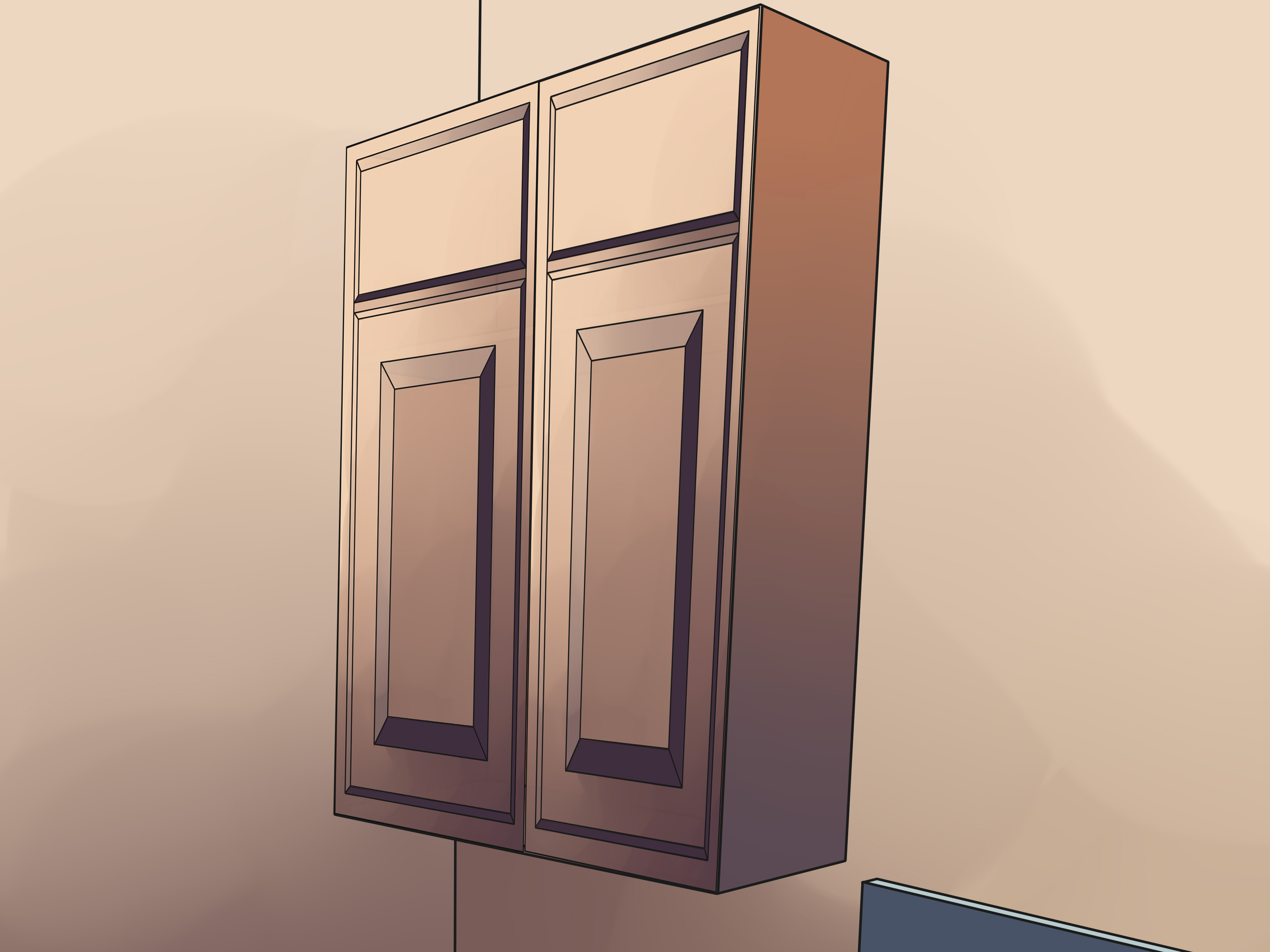 Distance Between Countertop And Upper Cabinets How To Build A Cabinet: 15 Steps (with Pictures) - Wikihow