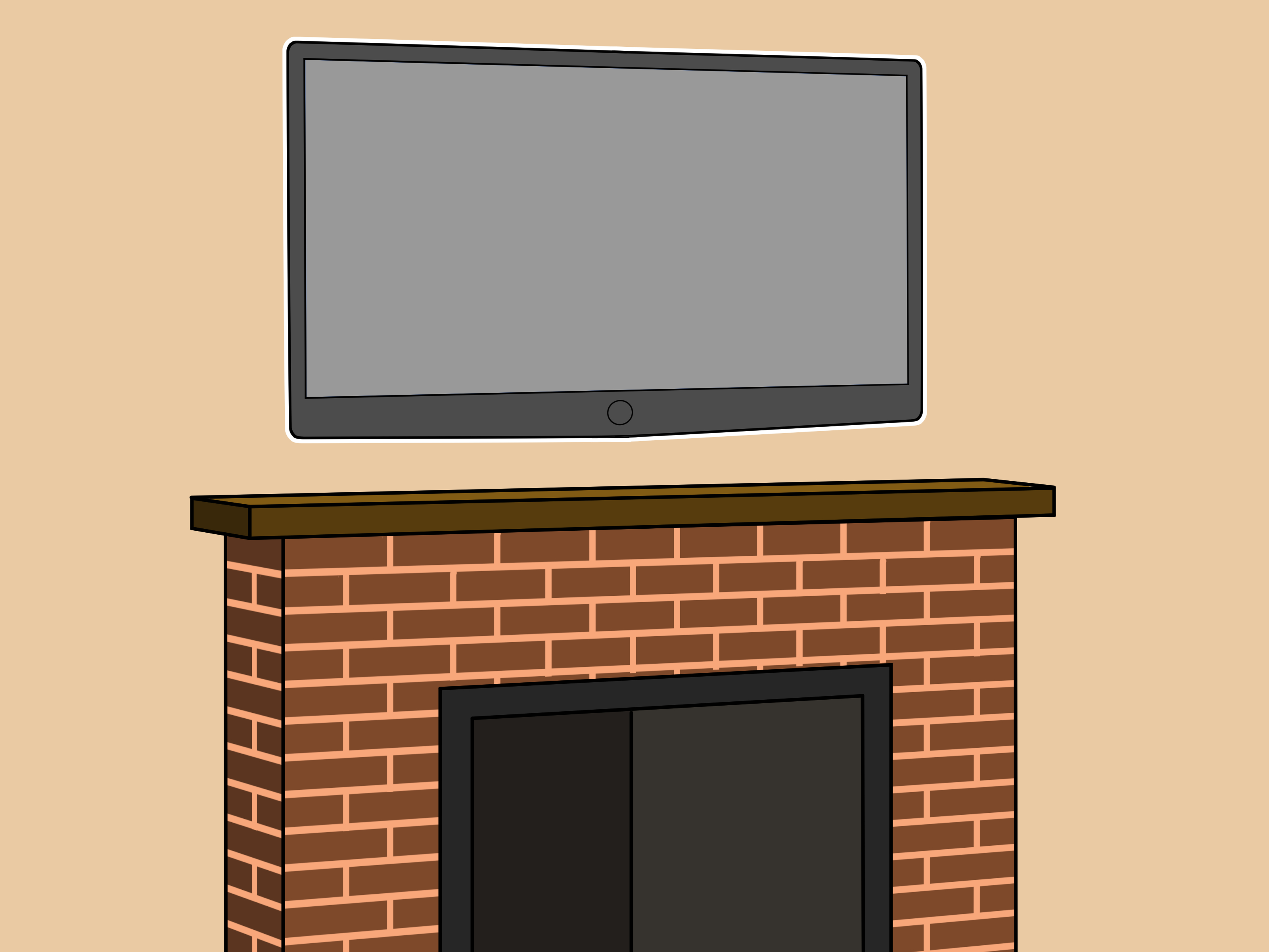 Hang Your Tv How To Hang A Plasma Tv Over The Fireplace 6 Steps