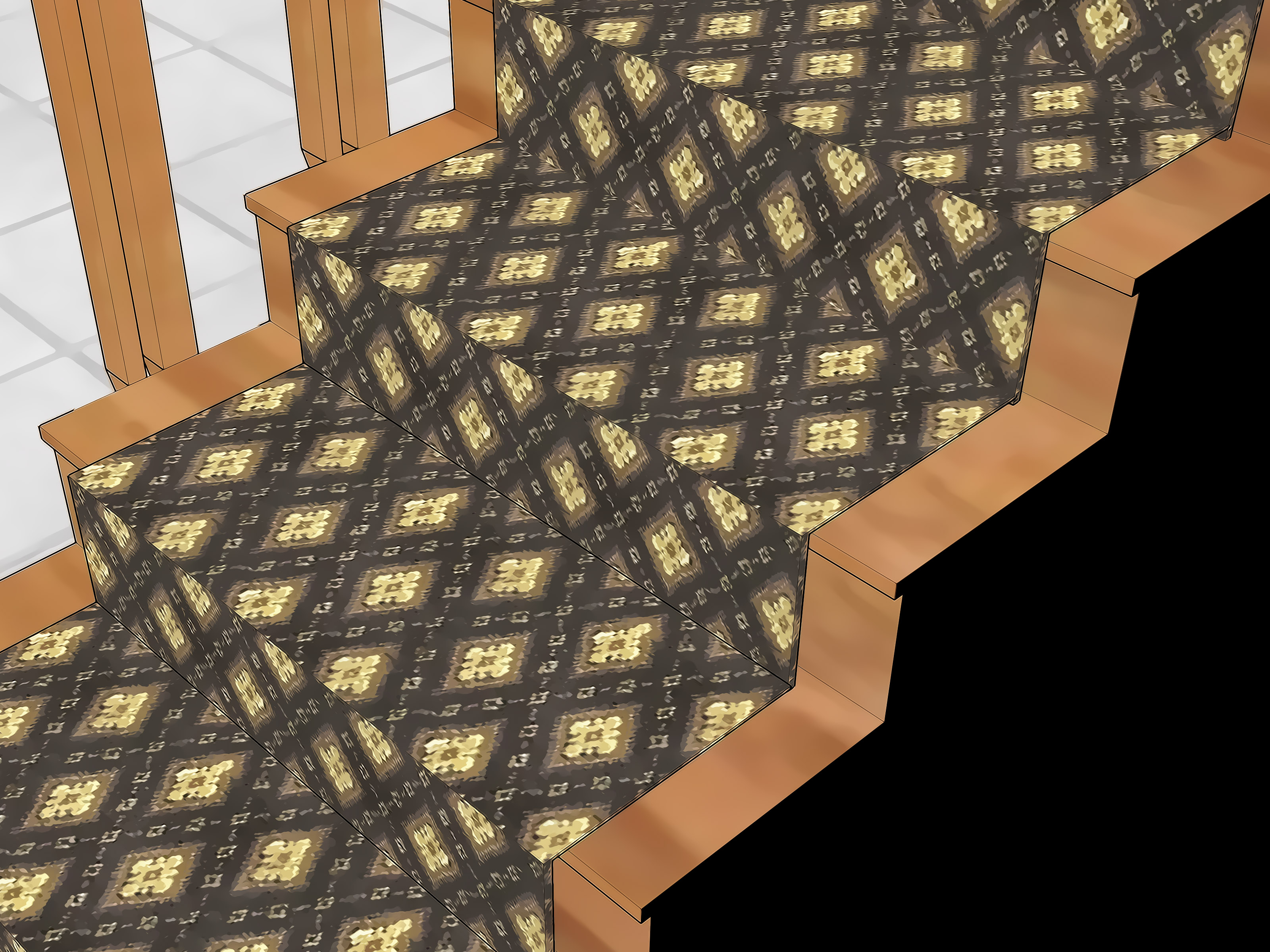 It S Bad Teppich Choose How To Carpet Stairs With Pictures Wikihow