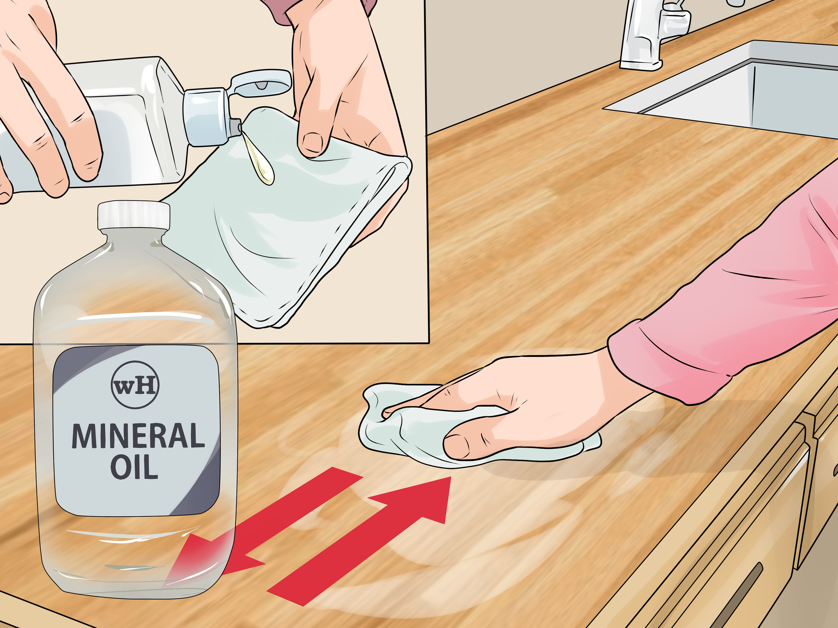 Best Way To Clean Countertops 3 Ways To Clean Wood Countertops Wikihow