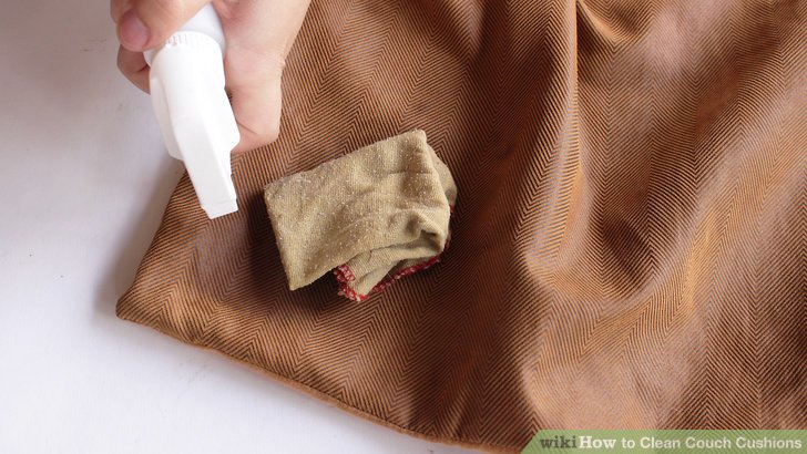 4 Ways To Clean Couch Cushions Wikihow - Sofa Cushions Cleaning