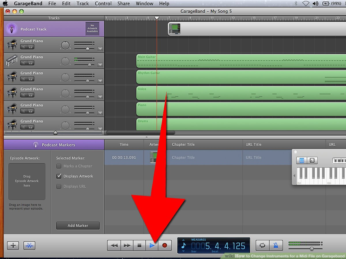 Fan Garageband How To Change Instruments For A Midi File On Garageband 8 Steps