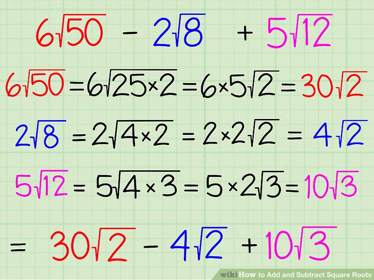 Raiz Cuadrada De 50 How To Add And Subtract Square Roots: 9 Steps (with Pictures)