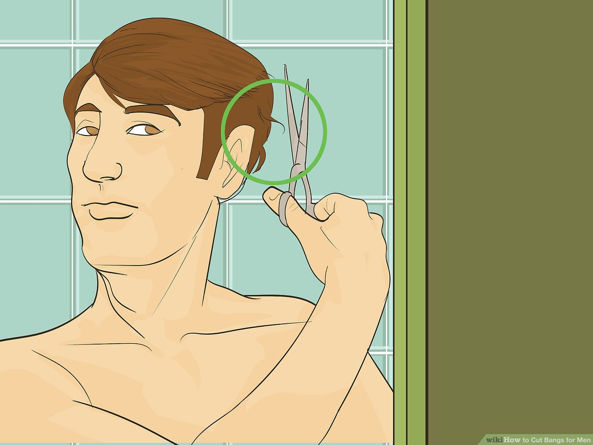 Sidecut Mann How To Cut Bangs For Men 13 Steps With Pictures Wikihow