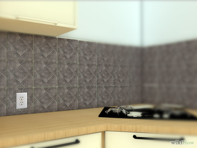 install kitchen backsplash pictures wikihow install backsplash install kitchen backsplash