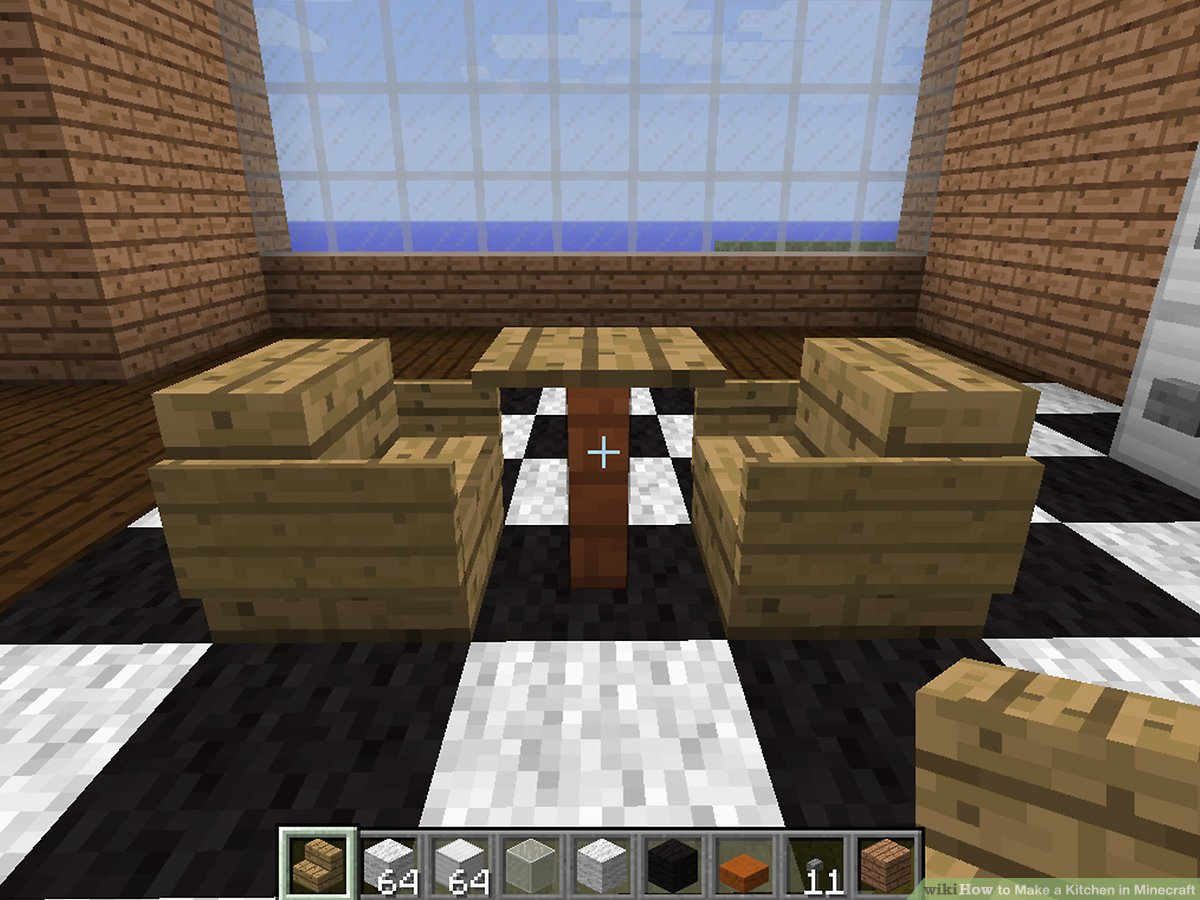 Minecraft Küche Modern How To Make A Kitchen In Minecraft 12 Steps With Pictures