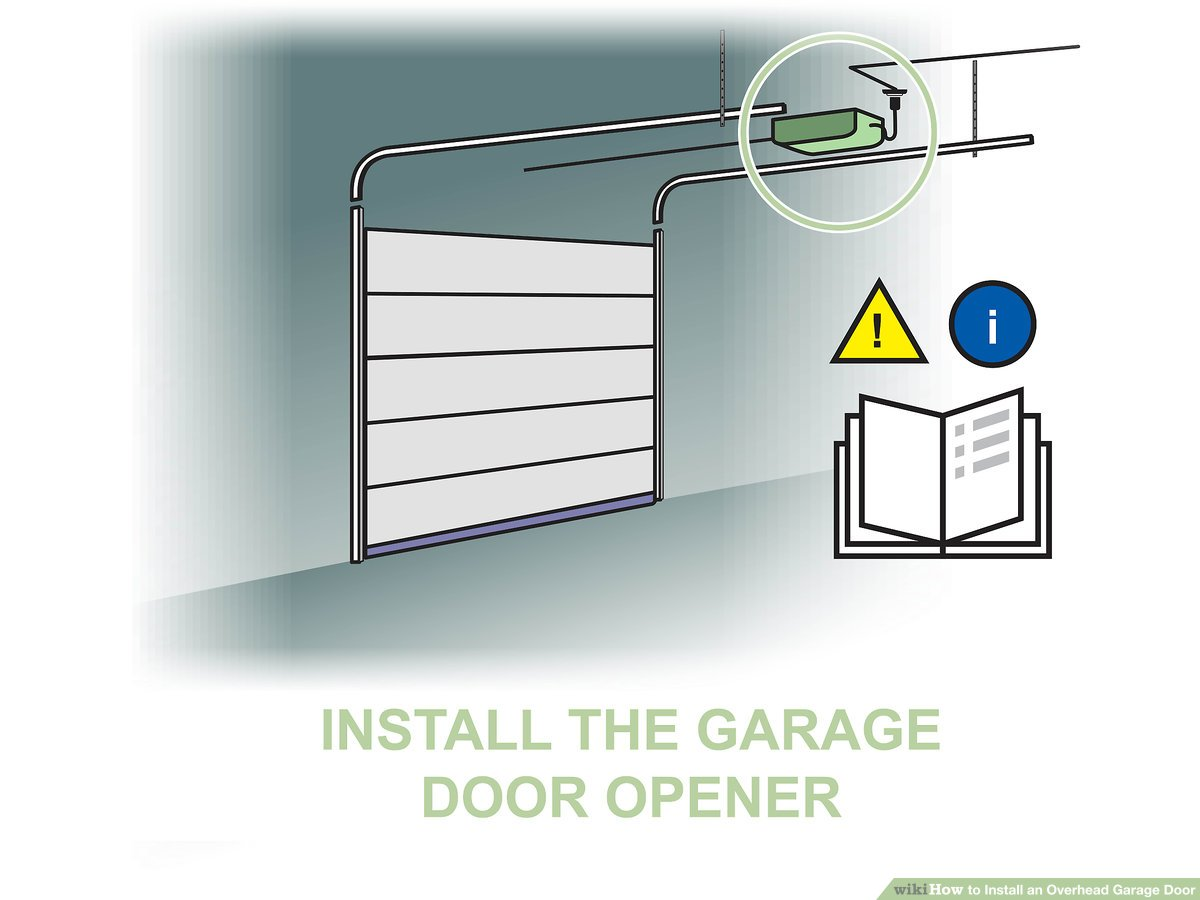 Garage Installation How To Install An Overhead Garage Door With Pictures Wikihow