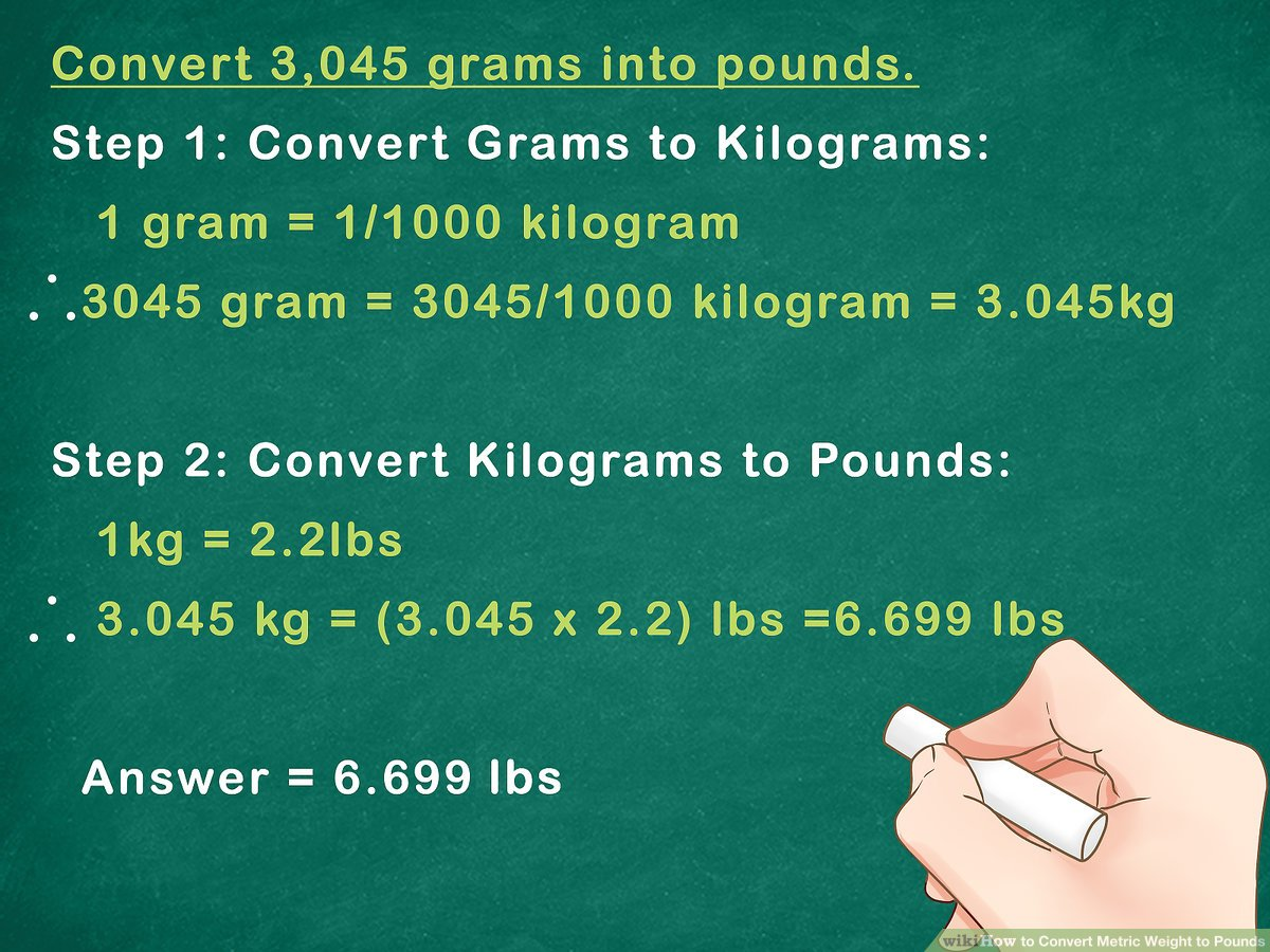 Kg A Libras How To Convert Metric Weight To Pounds 7 Steps With Pictures