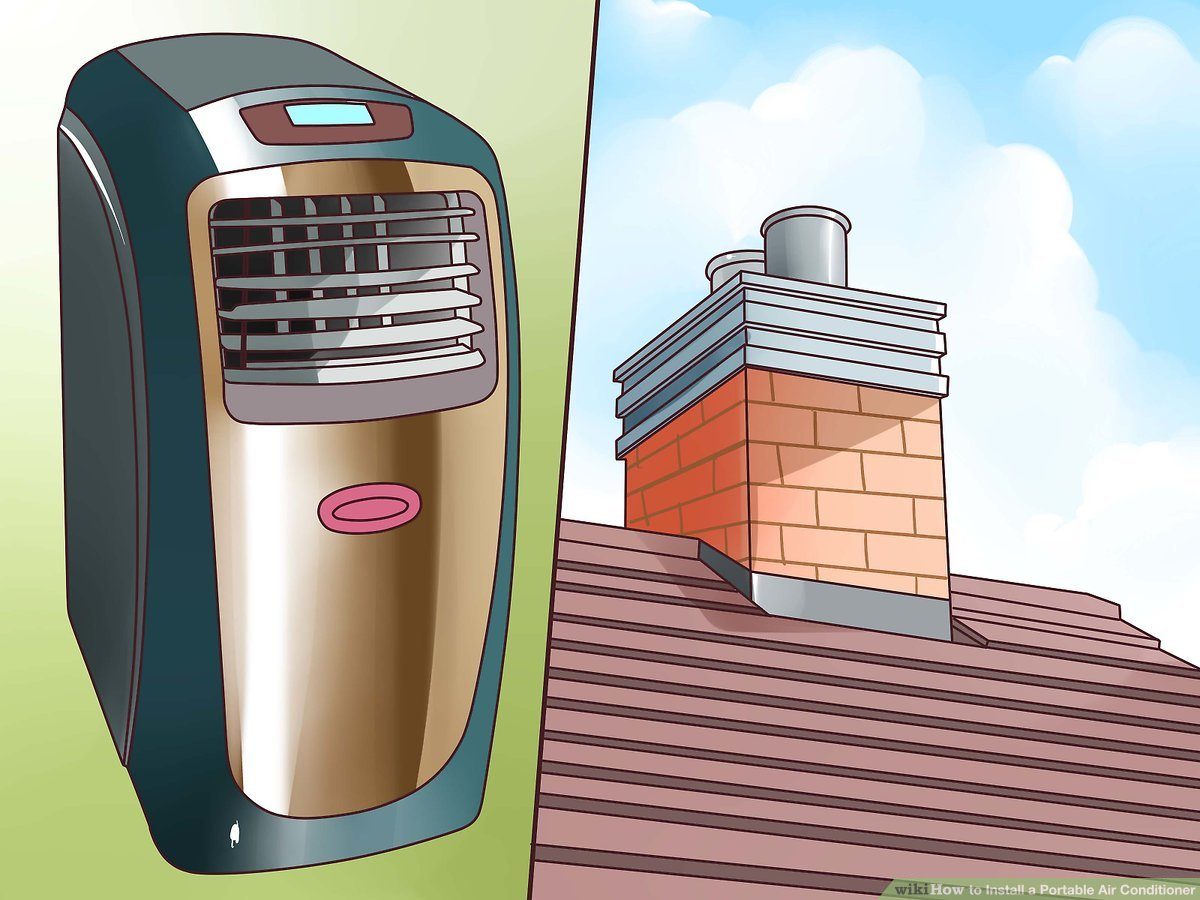 Cara Instalasi Ac How To Install A Portable Air Conditioner 10 Steps