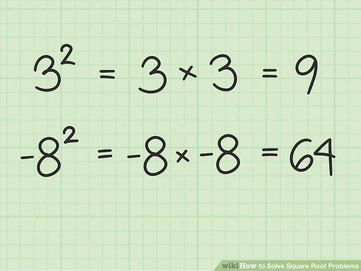 Raiz Cuadrada De Numero Negativo How To Solve Square Root Problems (with Pictures) - Wikihow