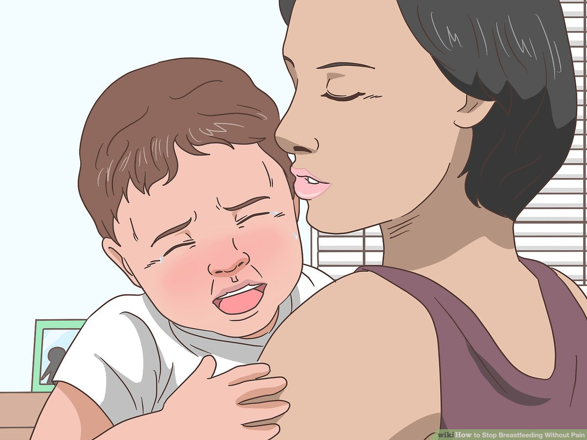 Nursing And Baby Biting How To Stop Breastfeeding Without Pain With Pictures Wikihow
