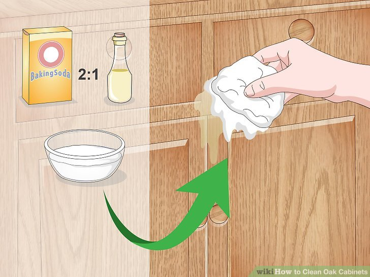 How To Remove Grease From White Kitchen Cabinets How To Clean Oak Cabinets (with Pictures) - Wikihow