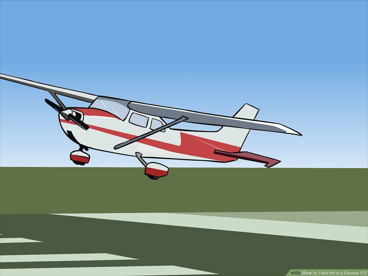 Cessna Plane How To Take Off In A Cessna 172 6 Steps With Pictures Wikihow
