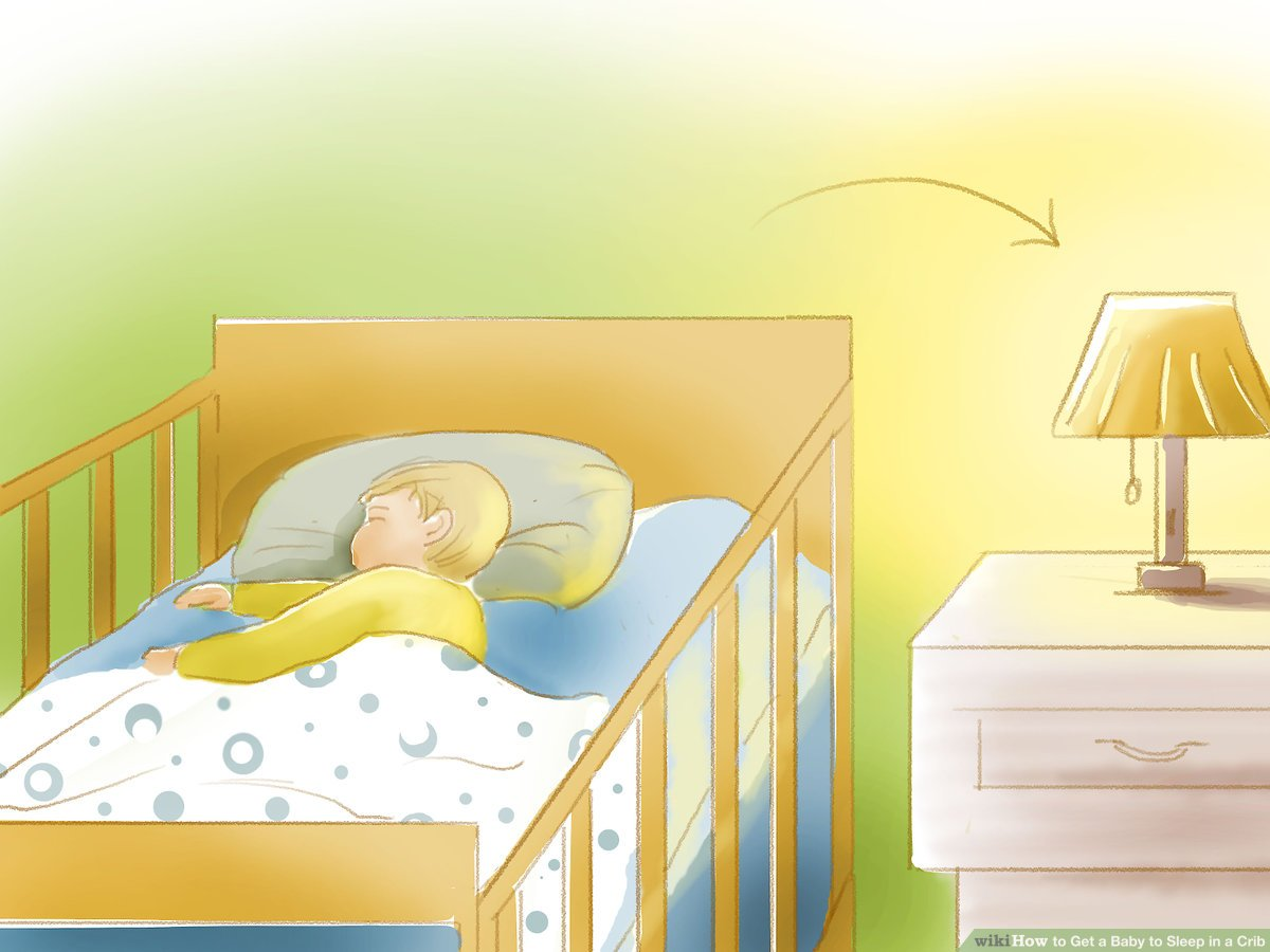 What Can Baby Sleep In Next To Bed 4 Ways To Get A Baby To Sleep In A Crib Wikihow