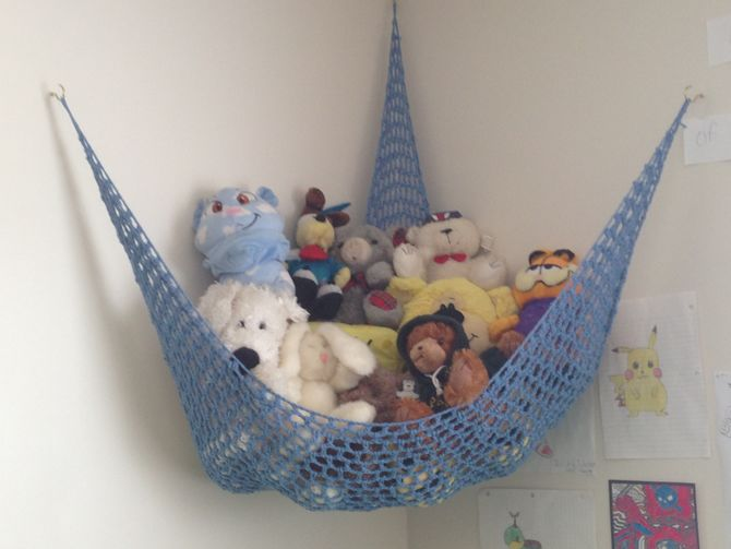 Hängematte Häkeln How To Crochet A Toy Storage Hammock: 15 Steps (with Pictures)