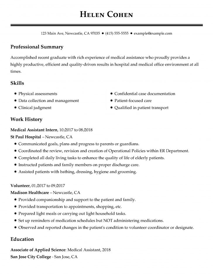 resume samples with degrees