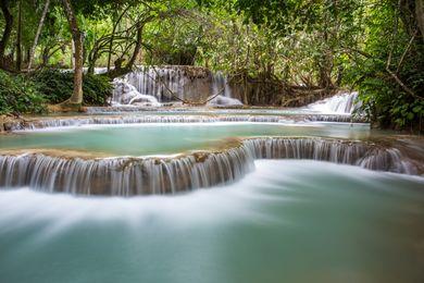 Amazing Falls Wallpaper Luang Prabang Wikitravel