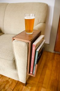 Sofa Arm Table Reclaimed Wood Couch Arm Table Pinterest ...