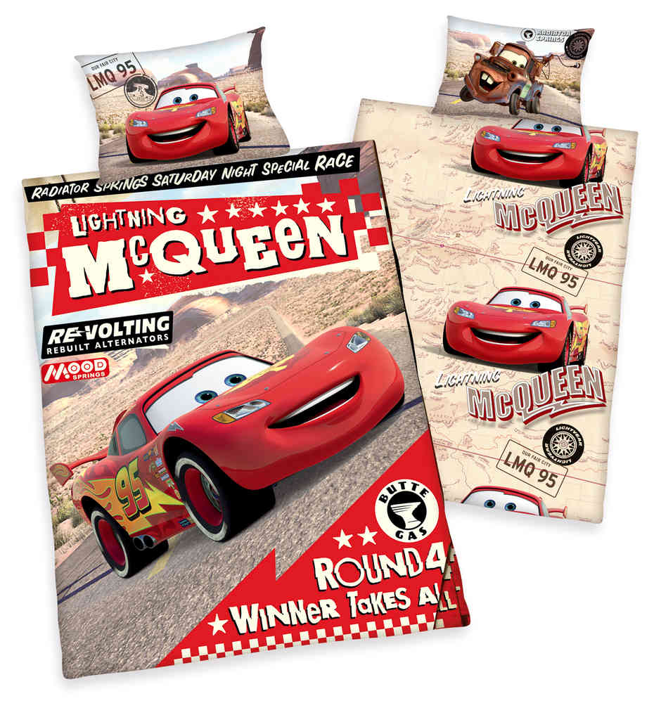 Designer Bettwäsche Sale Disneys Cars Flanell Bettwäsche 40x60 100x135cm