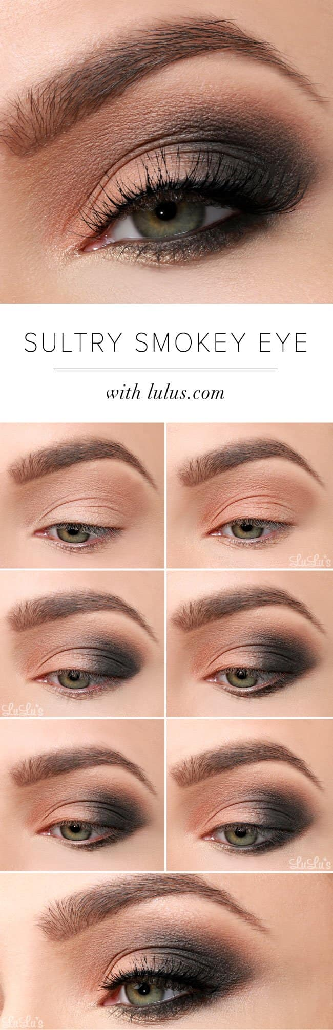 Smokey Eyes Makeup 15 Smokey Eye Tutorials Step By Step Guide To Perfect Hollywood